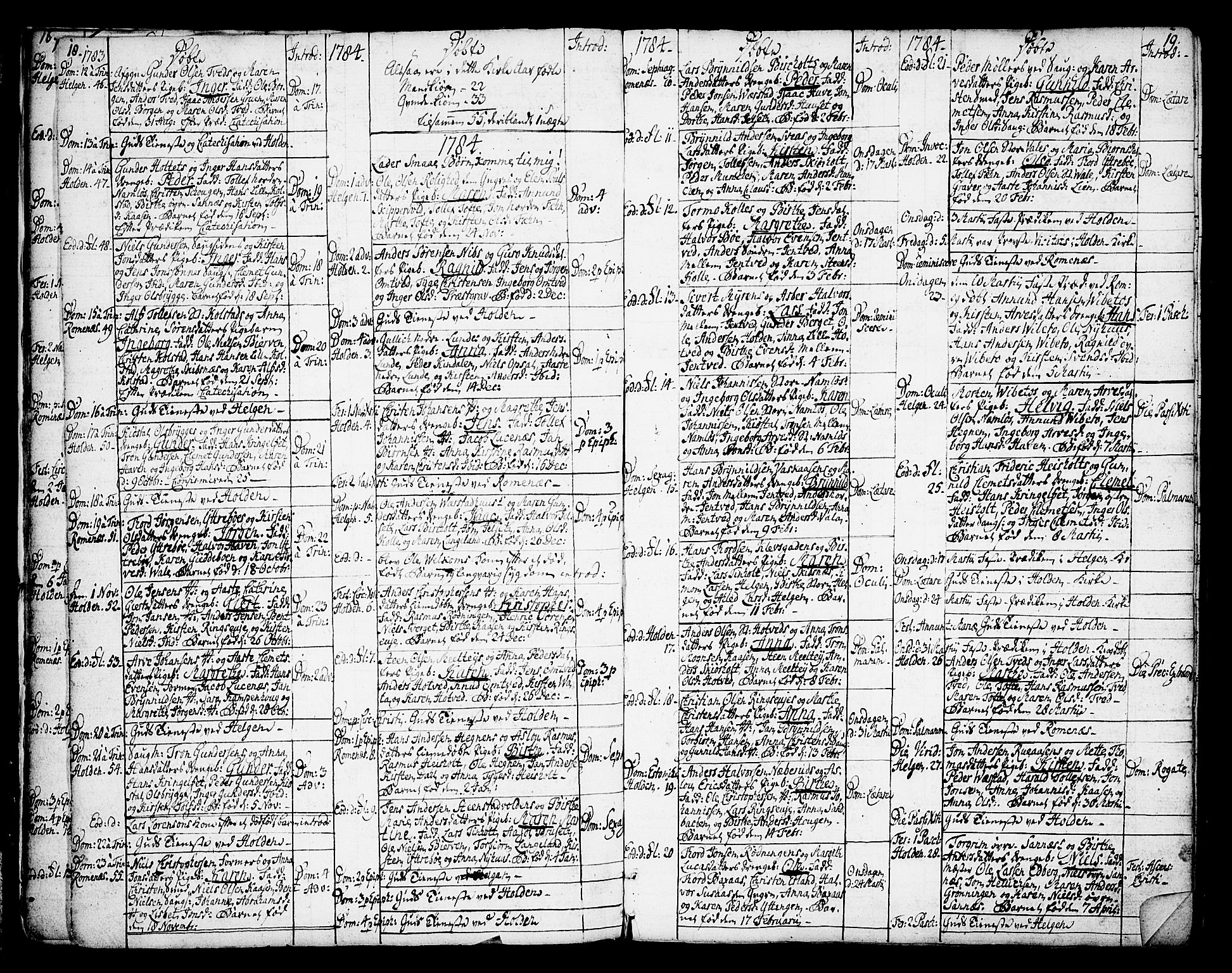 SAKO, Holla kirkebøker, F/Fa/L0002: Ministerialbok nr. 2, 1779-1814, s. 18-19
