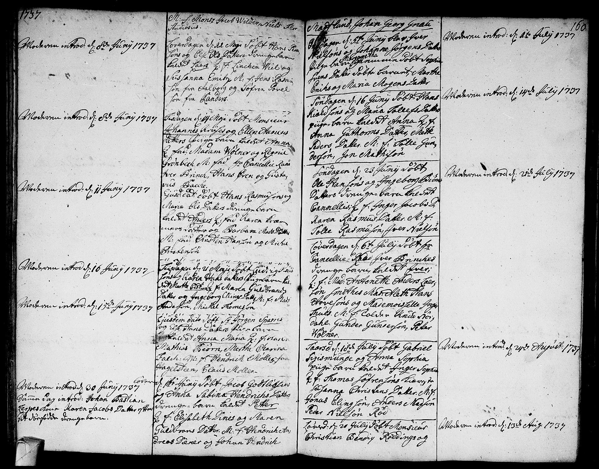 SAKO, Strømsø kirkebøker, F/Fa/L0005: Ministerialbok nr. I 5, 1734-1739, s. 160
