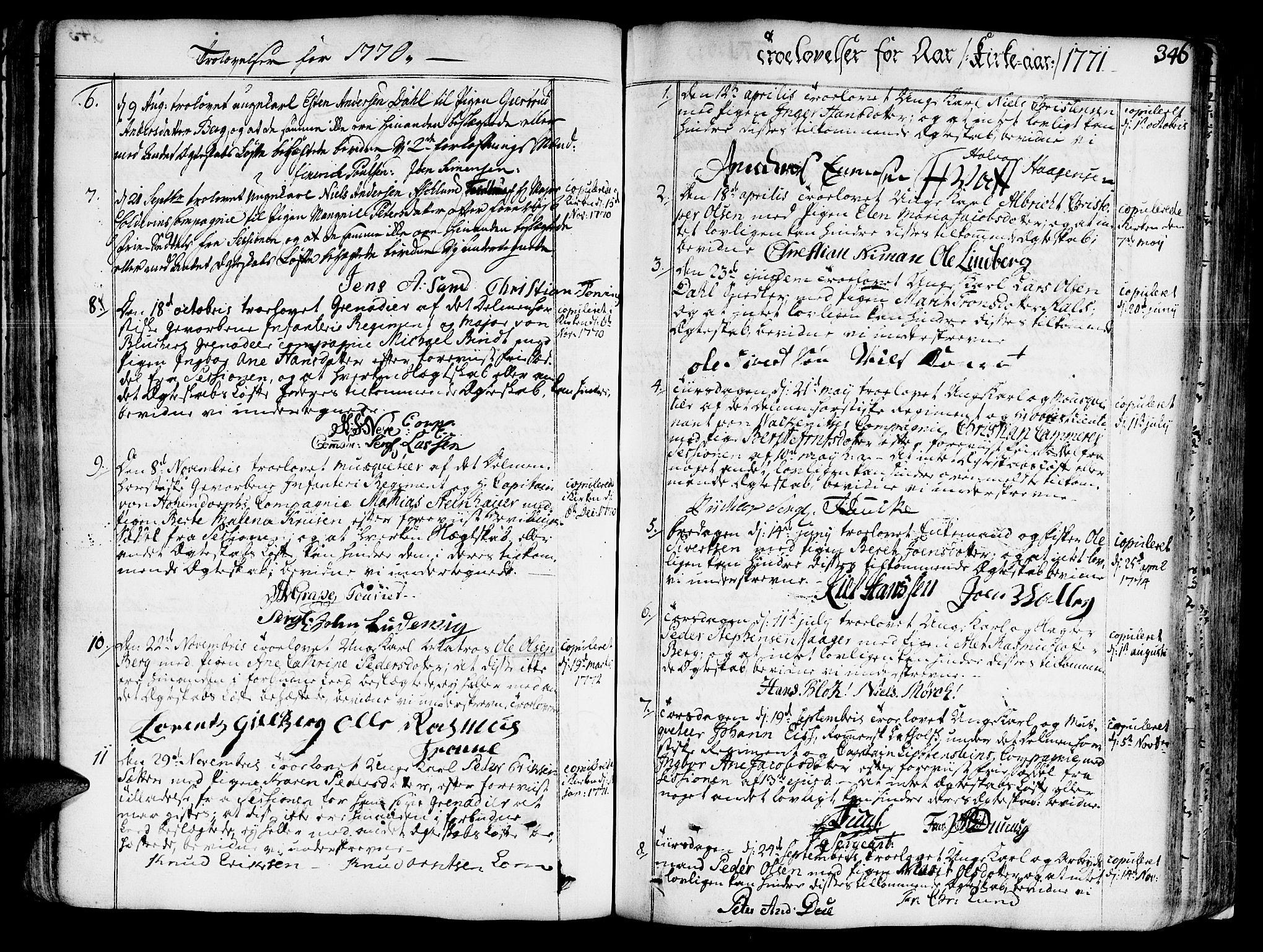 SAT, Ministerialprotokoller, klokkerbøker og fødselsregistre - Sør-Trøndelag, 602/L0103: Ministerialbok nr. 602A01, 1732-1774, s. 346