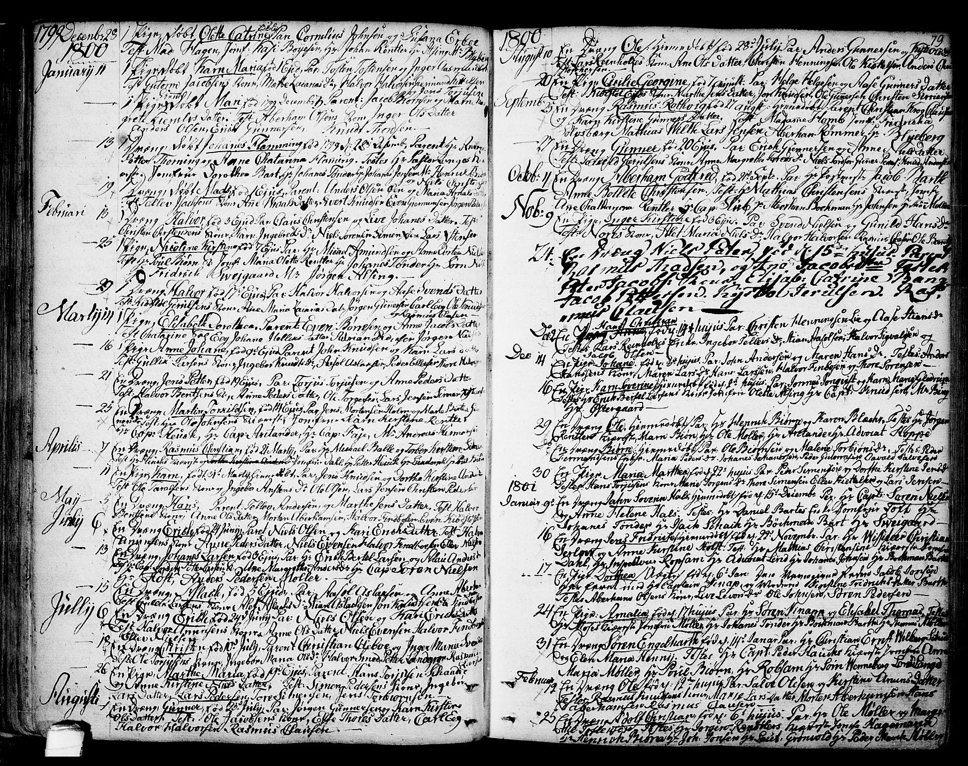 SAKO, Kragerø kirkebøker, F/Fa/L0002: Ministerialbok nr. 2, 1767-1802, s. 79
