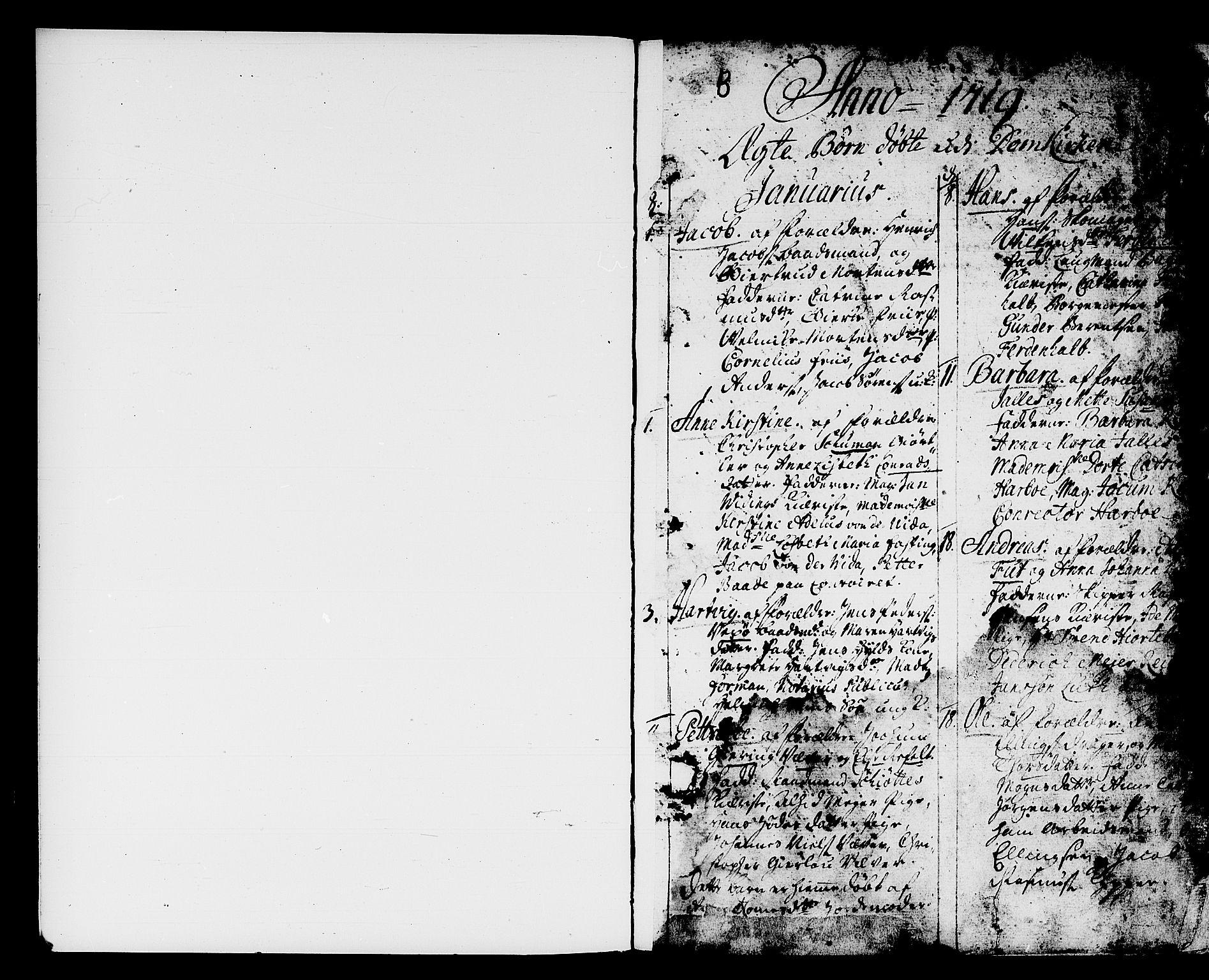 SAB, Domkirken Sokneprestembete, H/Haa/L0001: Ministerialbok nr. A 1, 1719-1732, s. 0-1