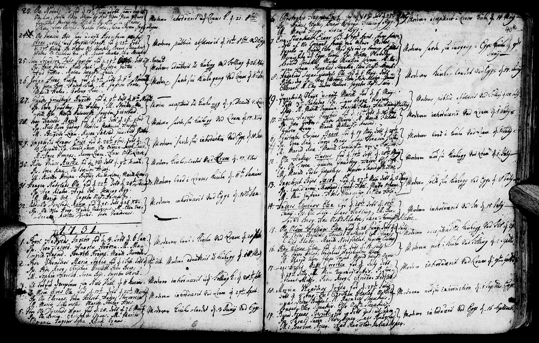 SAT, Ministerialprotokoller, klokkerbøker og fødselsregistre - Nord-Trøndelag, 746/L0439: Ministerialbok nr. 746A01, 1688-1759, s. 40k