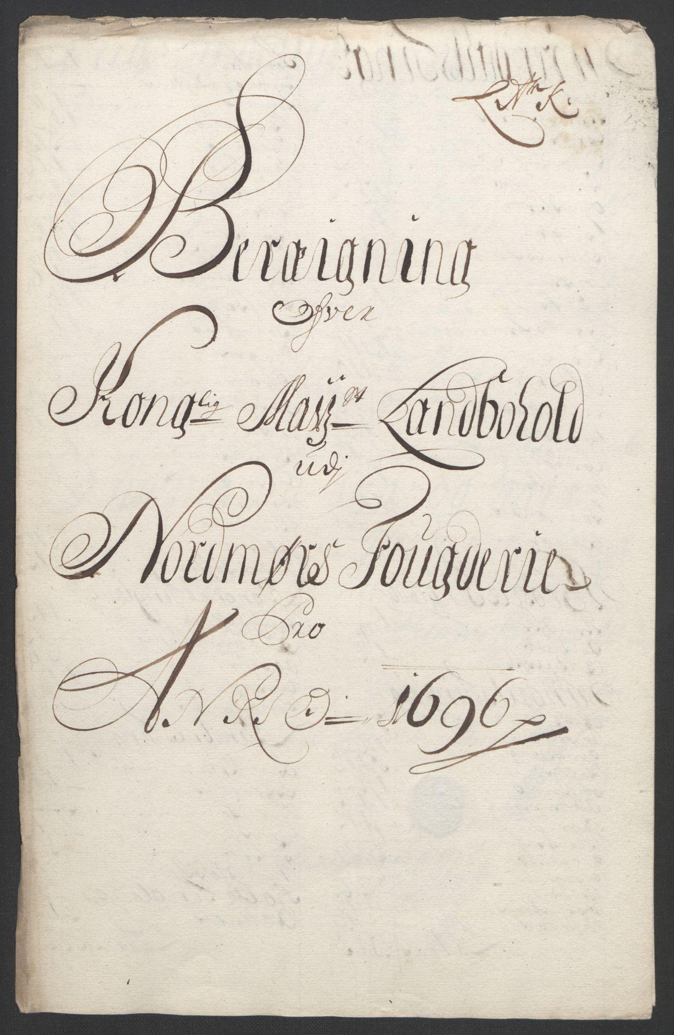 RA, Rentekammeret inntil 1814, Reviderte regnskaper, Fogderegnskap, R56/L3736: Fogderegnskap Nordmøre, 1694-1696, s. 433