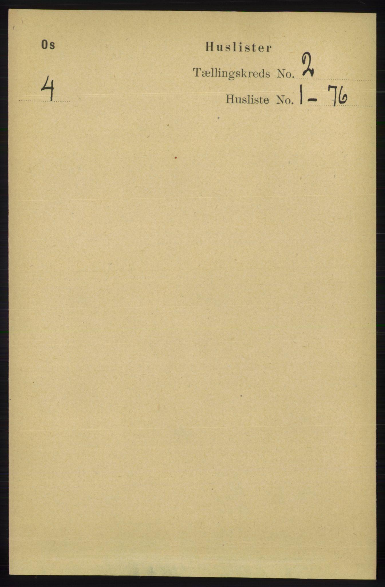RA, Folketelling 1891 for 1243 Os herred, 1891, s. 354