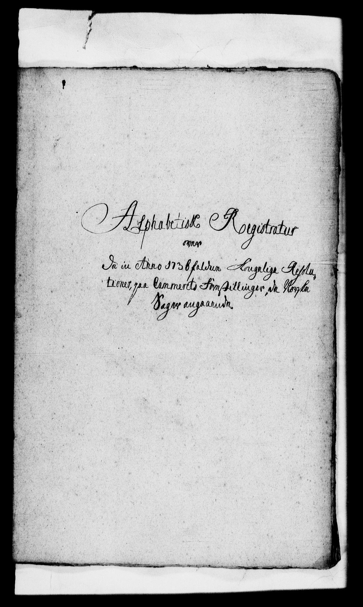 RA, Rentekammeret, Kammerkanselliet, G/Gf/Gfb/L0001: Register til norske relasjons- og resolusjonsprotokoller (merket RK 52.96), 1720-1749, s. 326