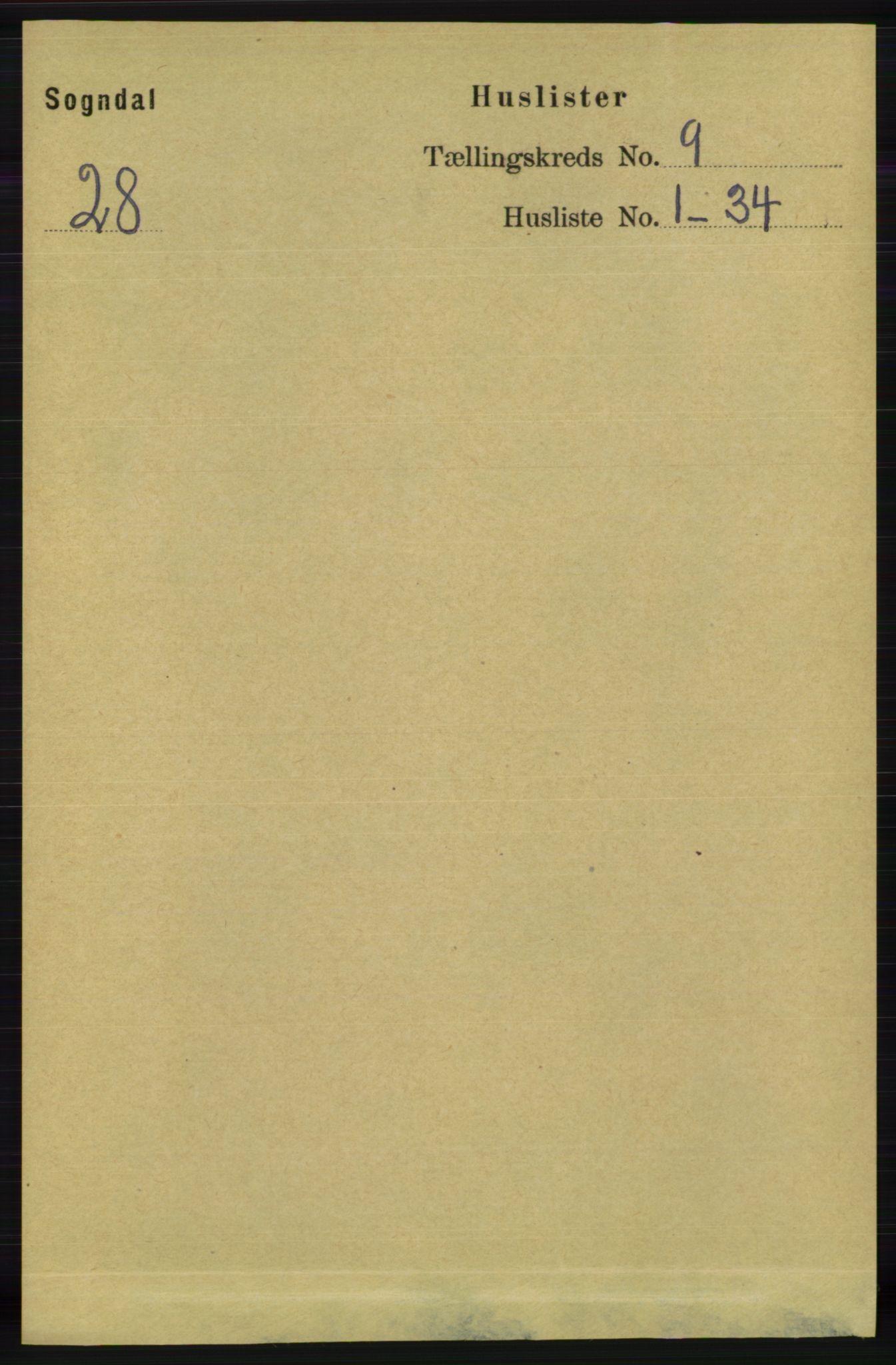 RA, Folketelling 1891 for 1111 Sokndal herred, 1891, s. 3117