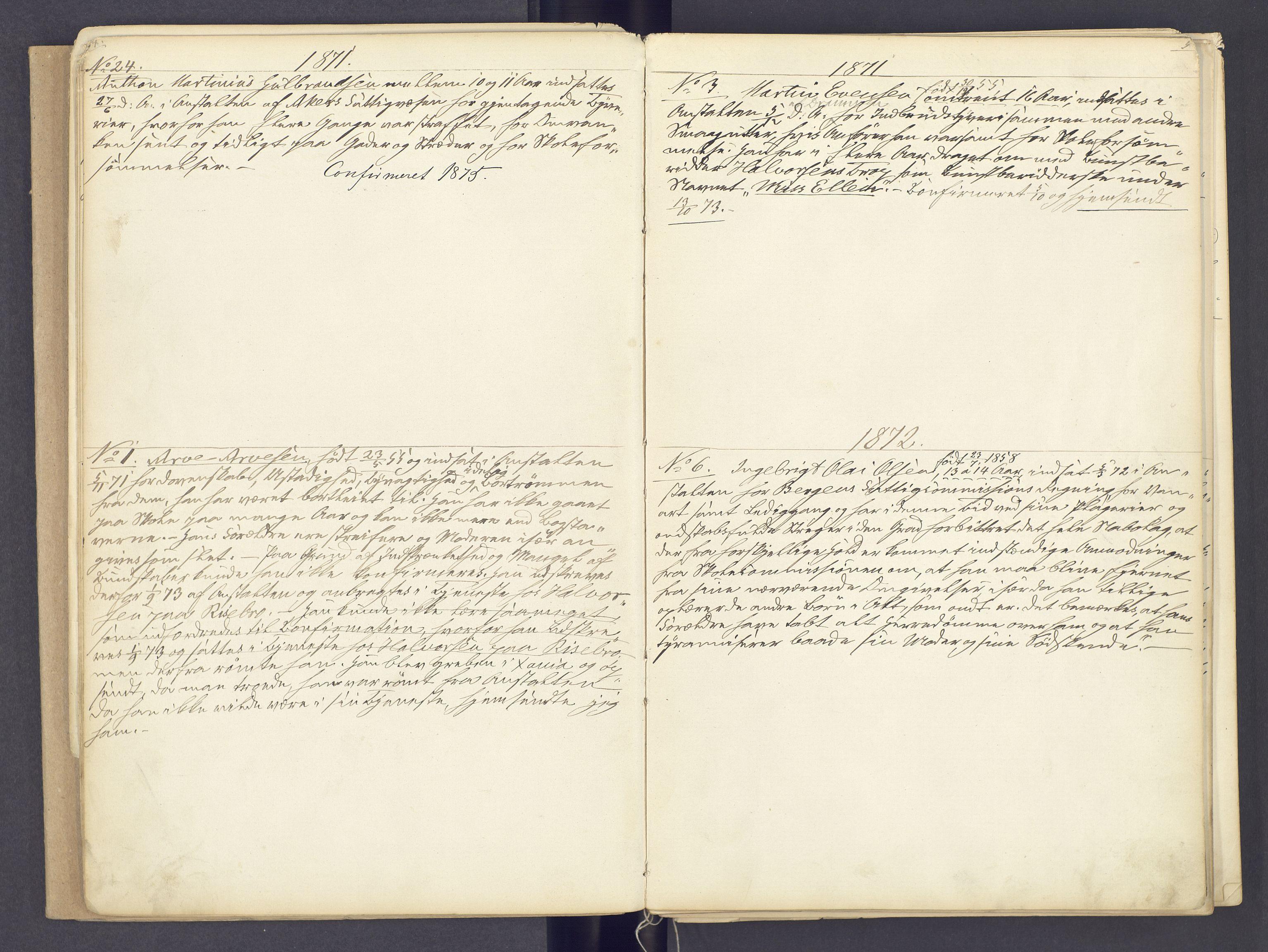 SAH, Toftes Gave, F/Fc/L0002: Elevprotokoll, 1870-1885, s. 4-5