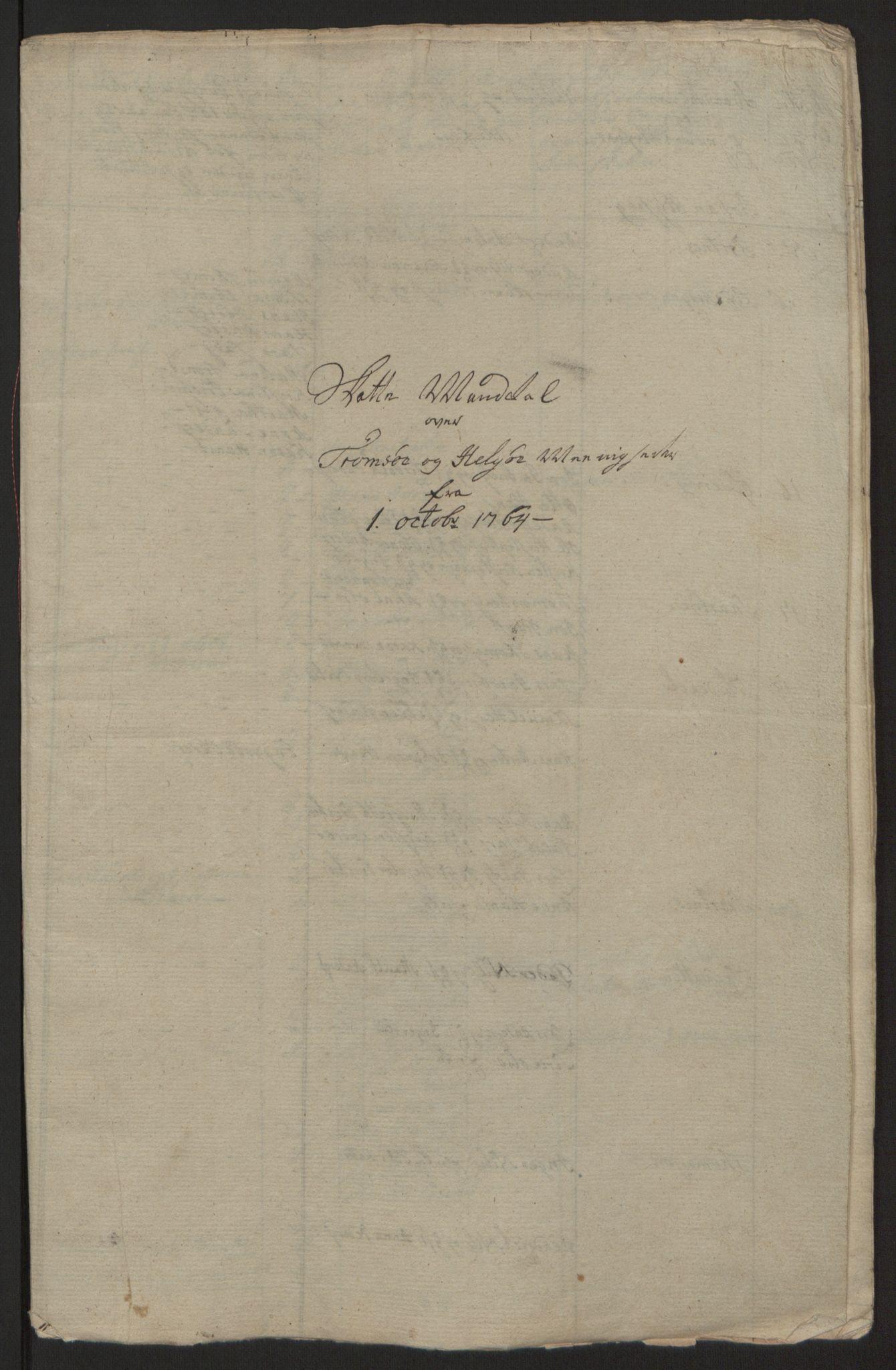 RA, Rentekammeret inntil 1814, Reviderte regnskaper, Fogderegnskap, R68/L4845: Ekstraskatten Senja og Troms, 1762-1765, s. 538
