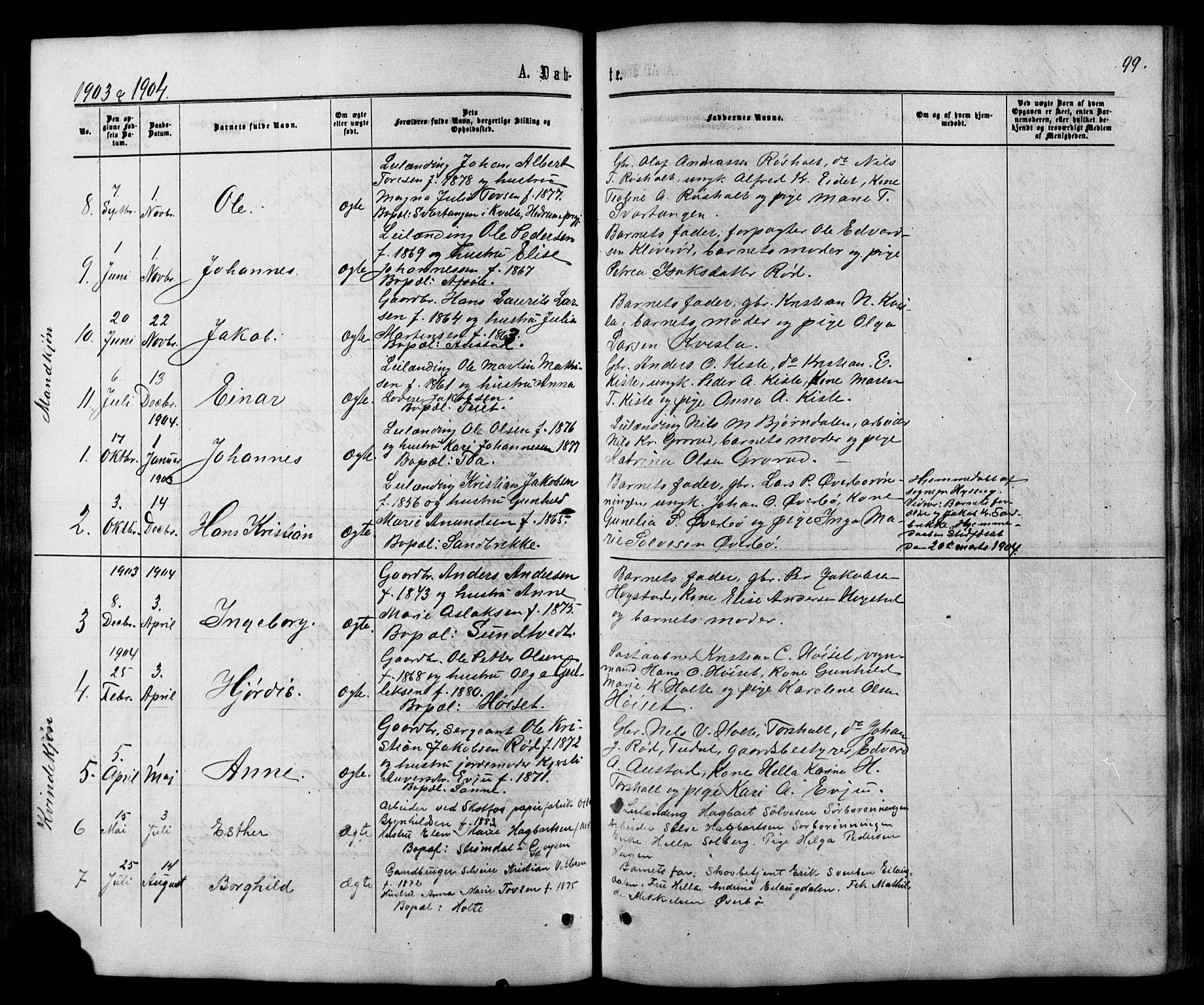 SAKO, Siljan kirkebøker, G/Ga/L0002: Klokkerbok nr. 2, 1864-1908, s. 99