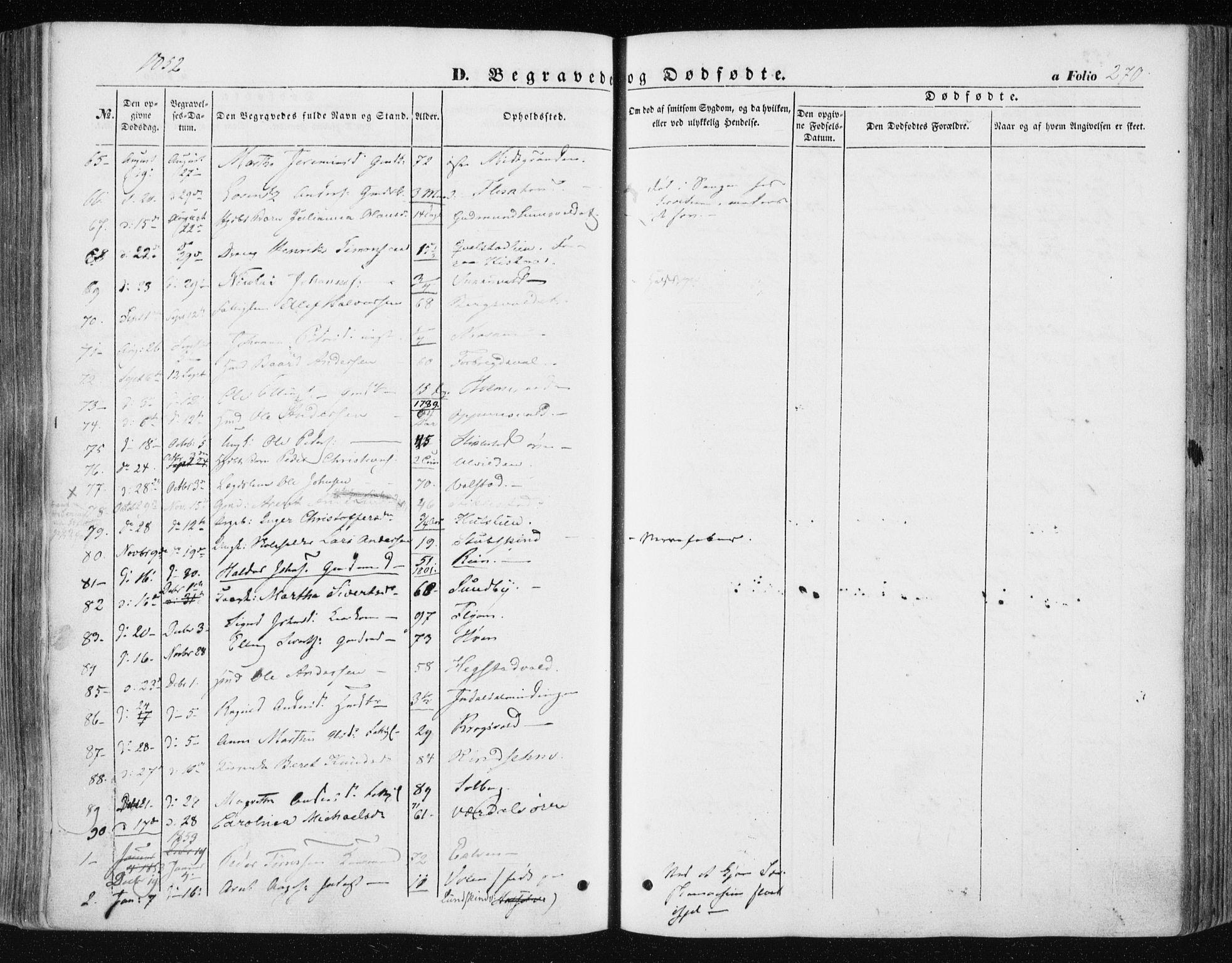 SAT, Ministerialprotokoller, klokkerbøker og fødselsregistre - Nord-Trøndelag, 723/L0240: Ministerialbok nr. 723A09, 1852-1860, s. 270