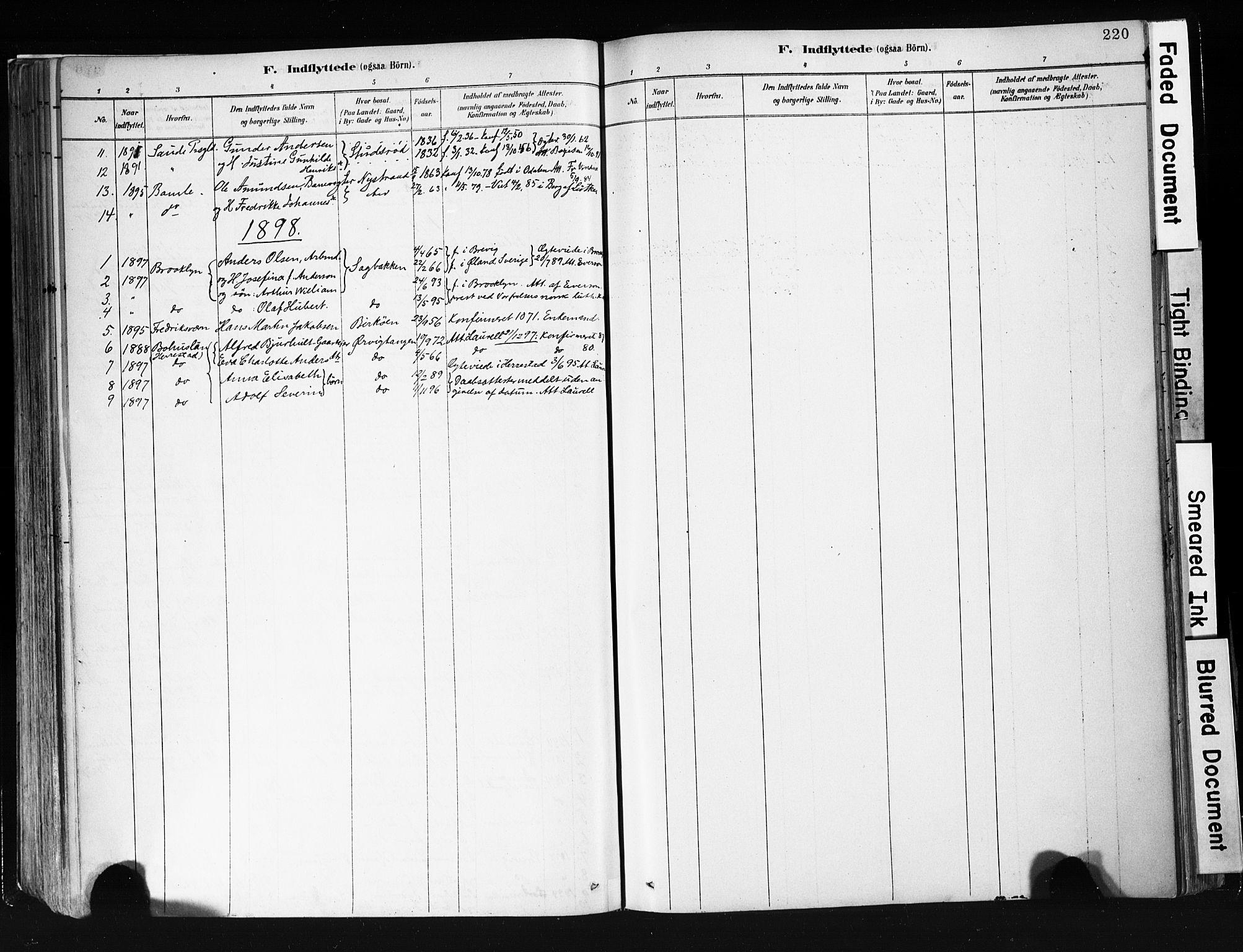 SAKO, Eidanger kirkebøker, F/Fa/L0012: Ministerialbok nr. 12, 1879-1900, s. 220