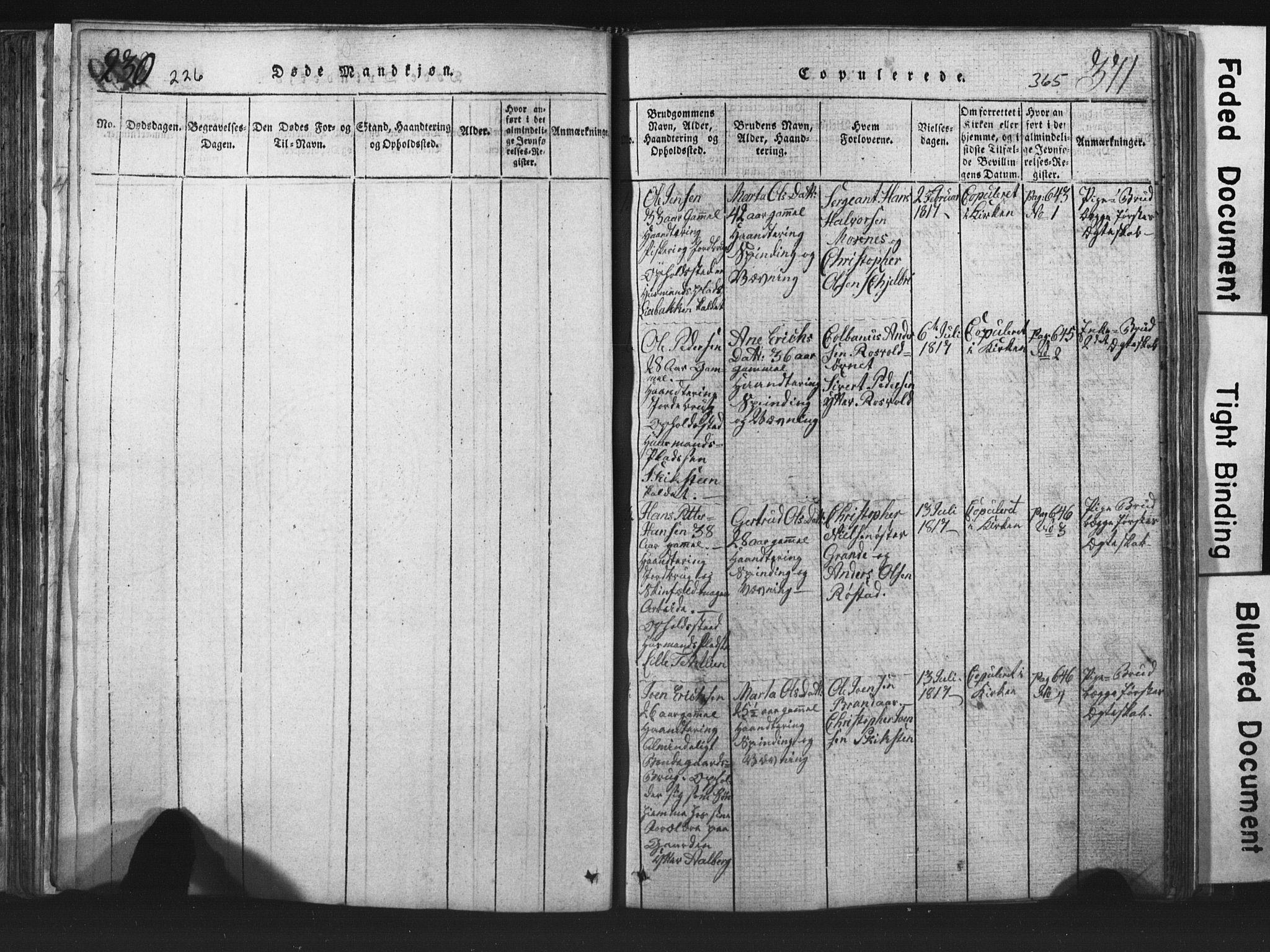 SAT, Ministerialprotokoller, klokkerbøker og fødselsregistre - Nord-Trøndelag, 701/L0017: Klokkerbok nr. 701C01, 1817-1825, s. 364-365