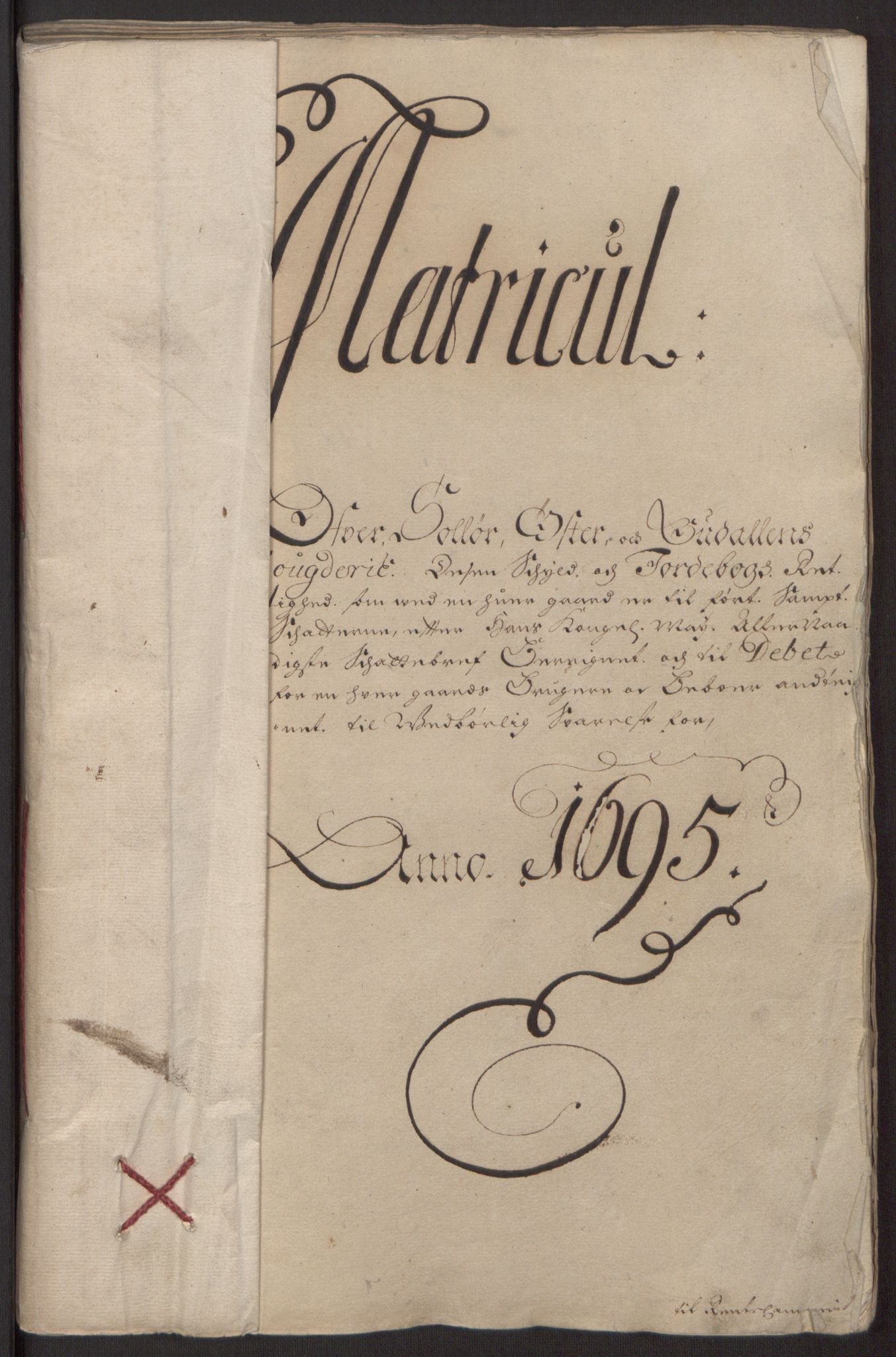 RA, Rentekammeret inntil 1814, Reviderte regnskaper, Fogderegnskap, R13/L0833: Fogderegnskap Solør, Odal og Østerdal, 1695, s. 75