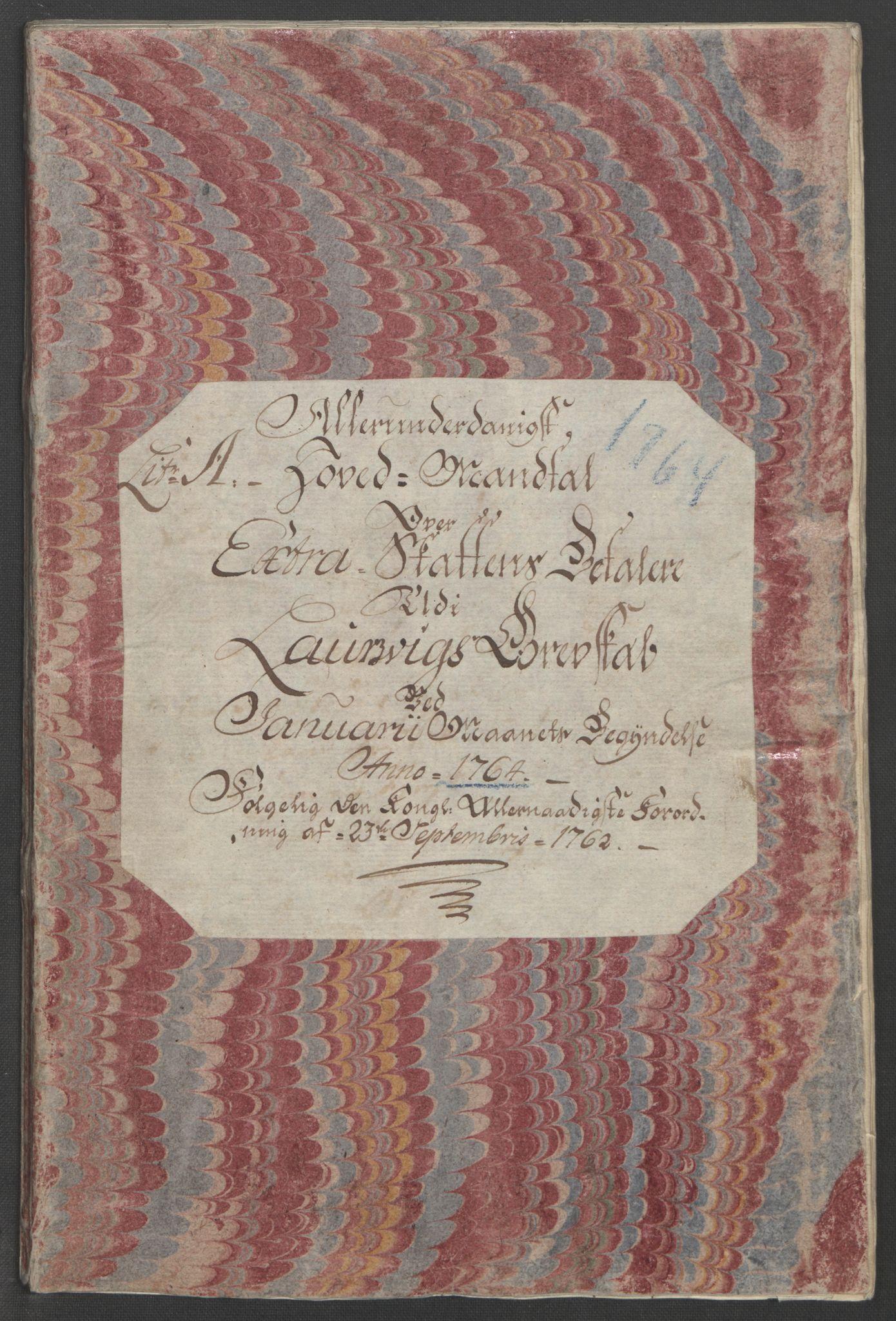 RA, Rentekammeret inntil 1814, Reviderte regnskaper, Fogderegnskap, R33/L2033: Ekstraskatten Larvik grevskap, 1762-1764, s. 412