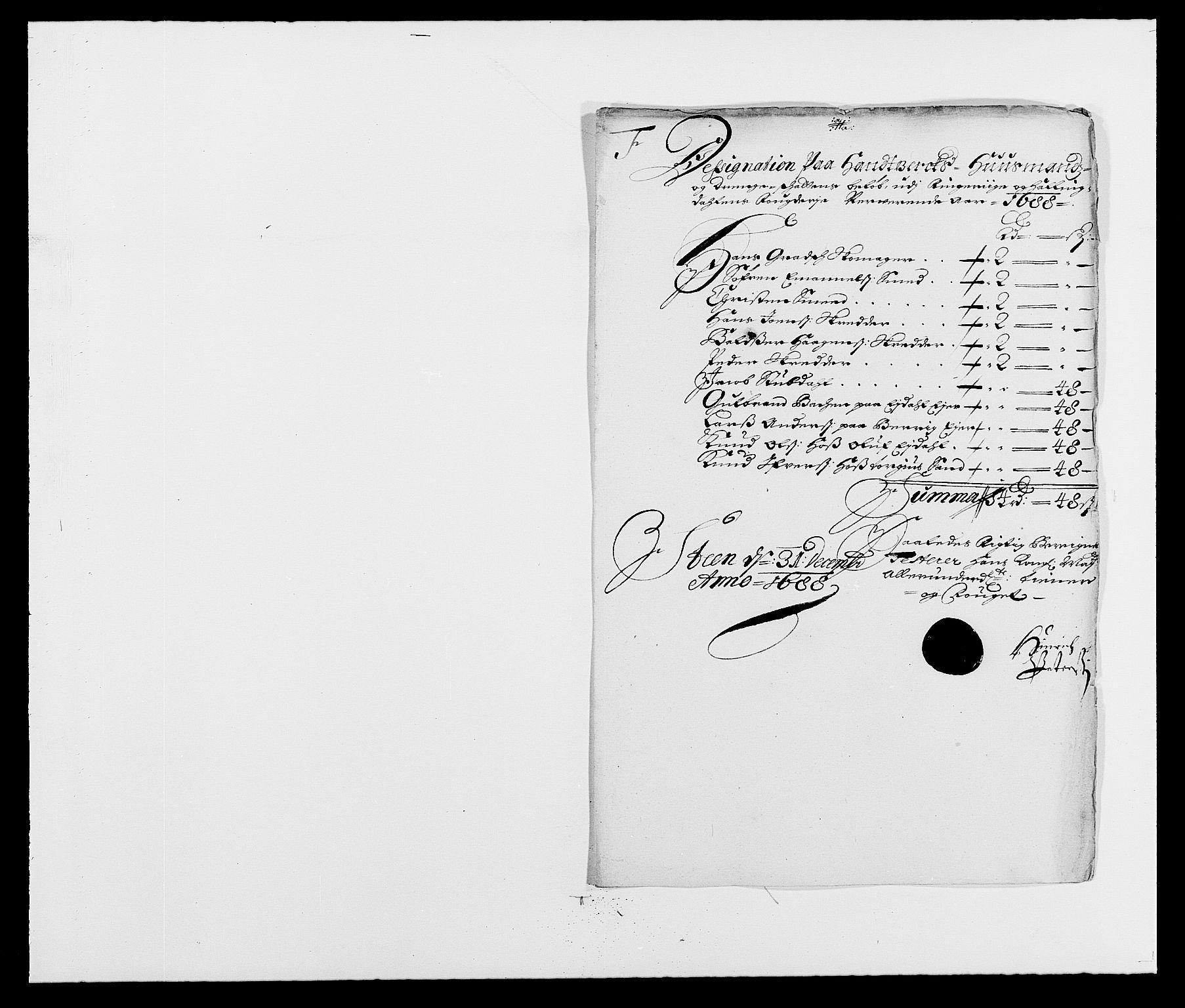 RA, Rentekammeret inntil 1814, Reviderte regnskaper, Fogderegnskap, R21/L1447: Fogderegnskap Ringerike og Hallingdal, 1687-1689, s. 177