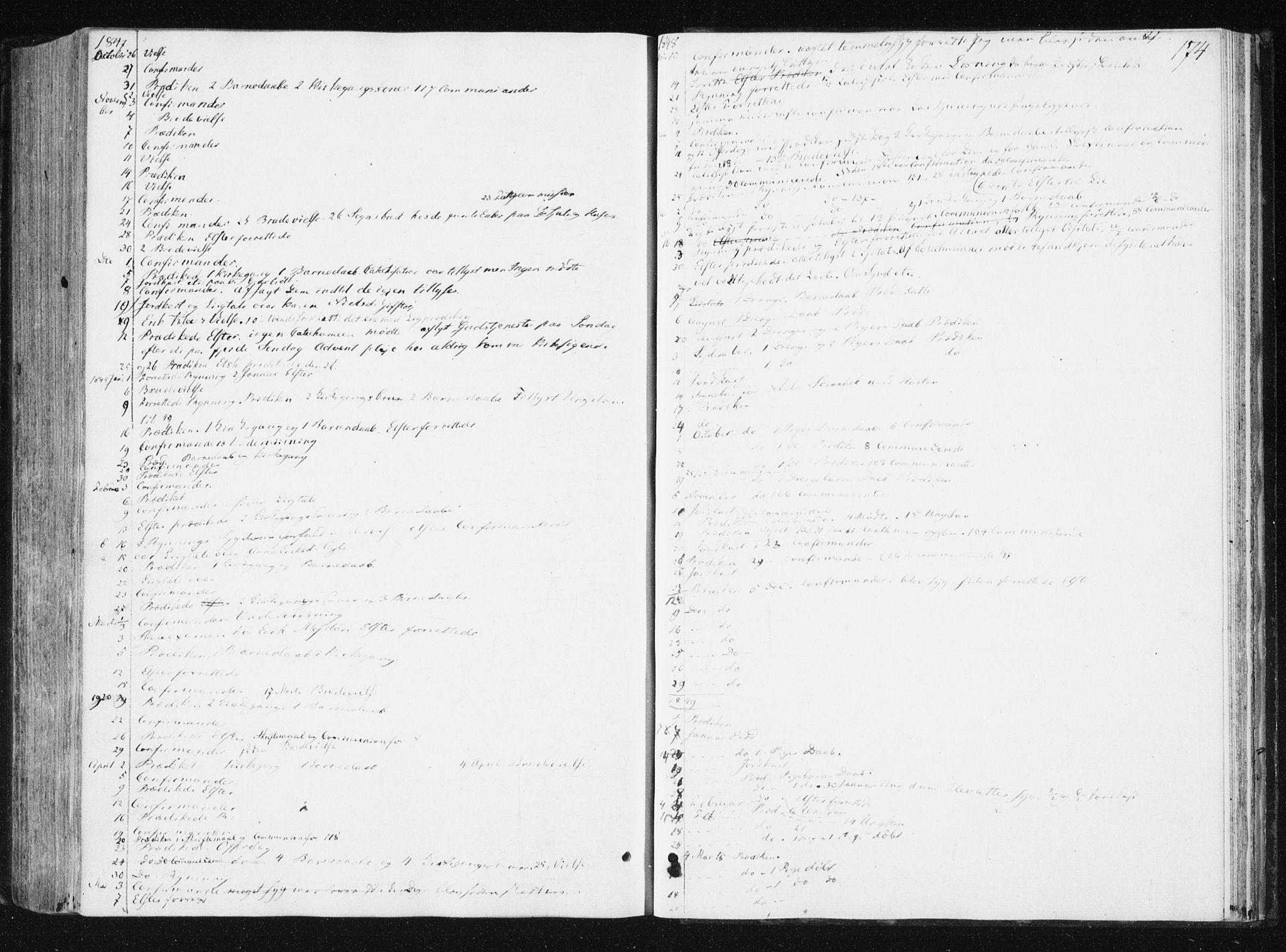 SAT, Ministerialprotokoller, klokkerbøker og fødselsregistre - Nord-Trøndelag, 749/L0470: Ministerialbok nr. 749A04, 1834-1853, s. 174