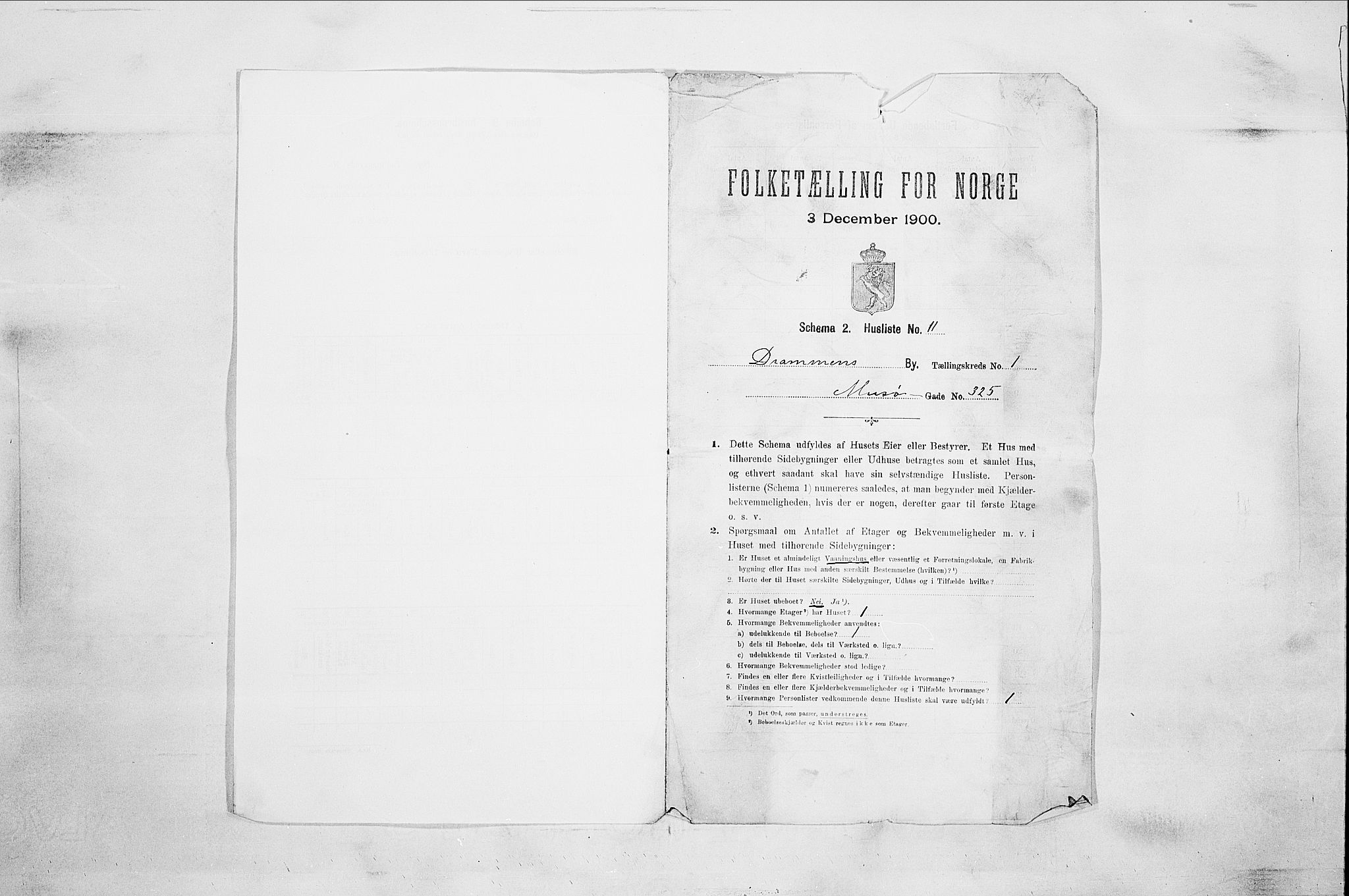 RA, Folketelling 1900 for 0602 Drammen kjøpstad, 1900, s. 13122