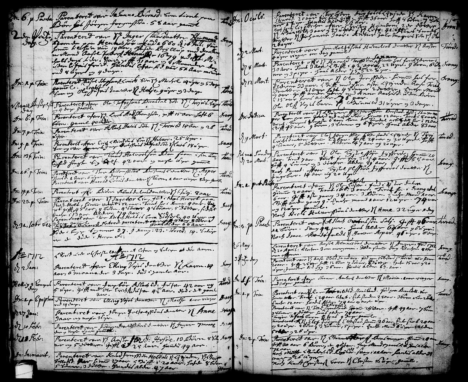 SAKO, Drangedal kirkebøker, F/Fa/L0001: Ministerialbok nr. 1, 1697-1767, s. 71