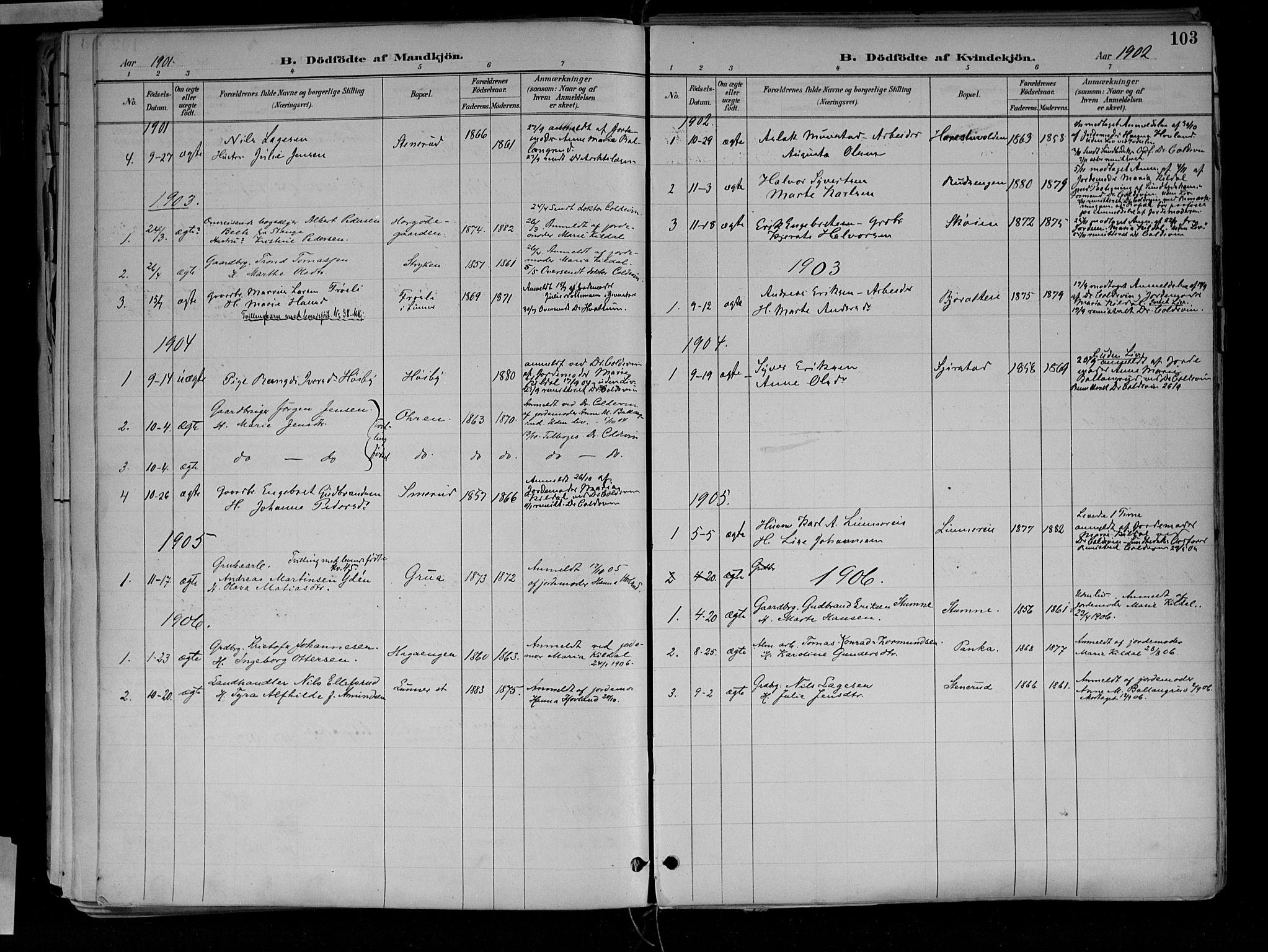SAH, Jevnaker prestekontor, Ministerialbok nr. 10, 1891-1906, s. 103
