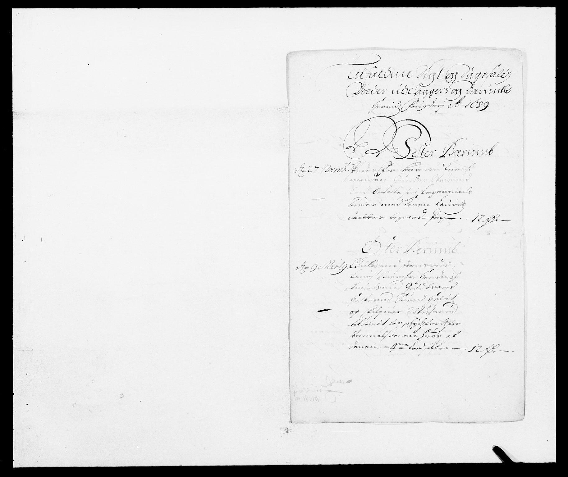 RA, Rentekammeret inntil 1814, Reviderte regnskaper, Fogderegnskap, R08/L0423: Fogderegnskap Aker, 1687-1689, s. 29