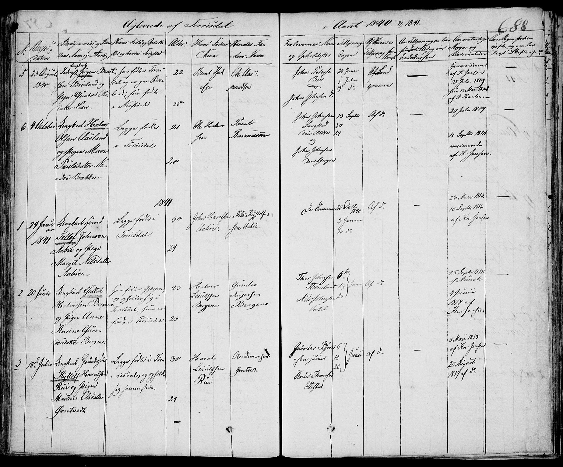 SAKO, Drangedal kirkebøker, F/Fa/L0007b: Ministerialbok nr. 7b, 1837-1856, s. 688