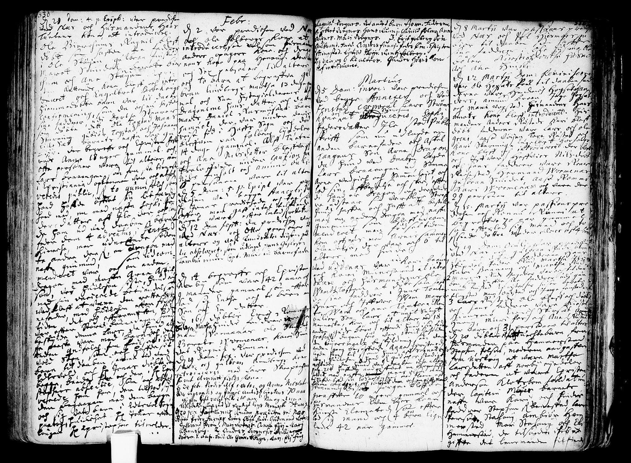 SAO, Nes prestekontor Kirkebøker, F/Fa/L0001: Ministerialbok nr. I 1, 1689-1716, s. 330-331