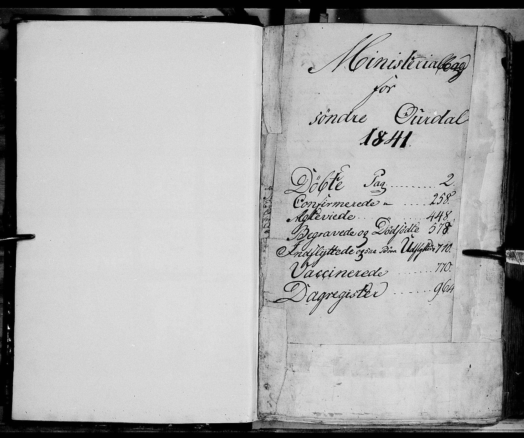 SAH, Sør-Aurdal prestekontor, Ministerialbok nr. 4, 1841-1849