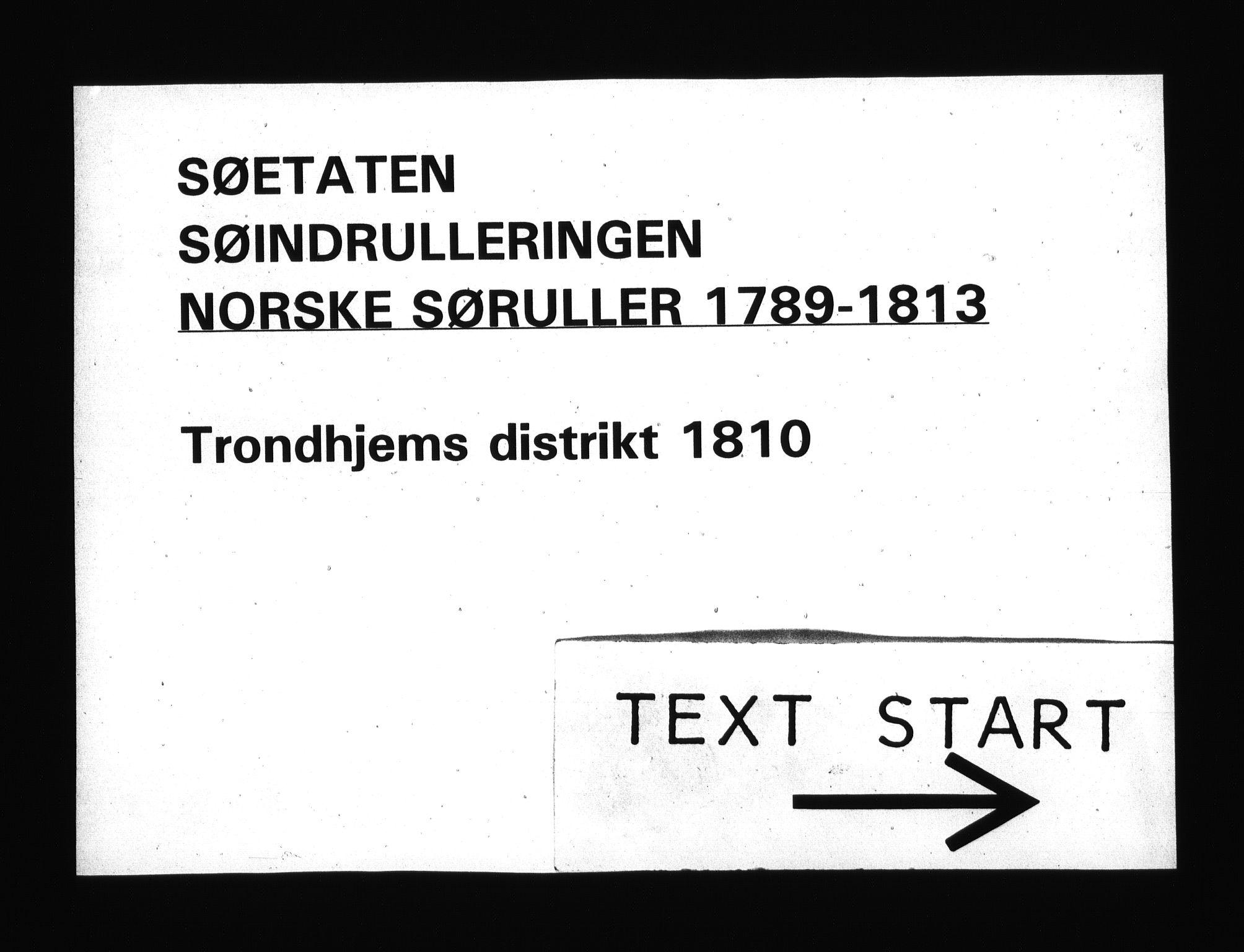 RA, Sjøetaten, F/L0337: Trondheim distrikt, bind 1, 1810