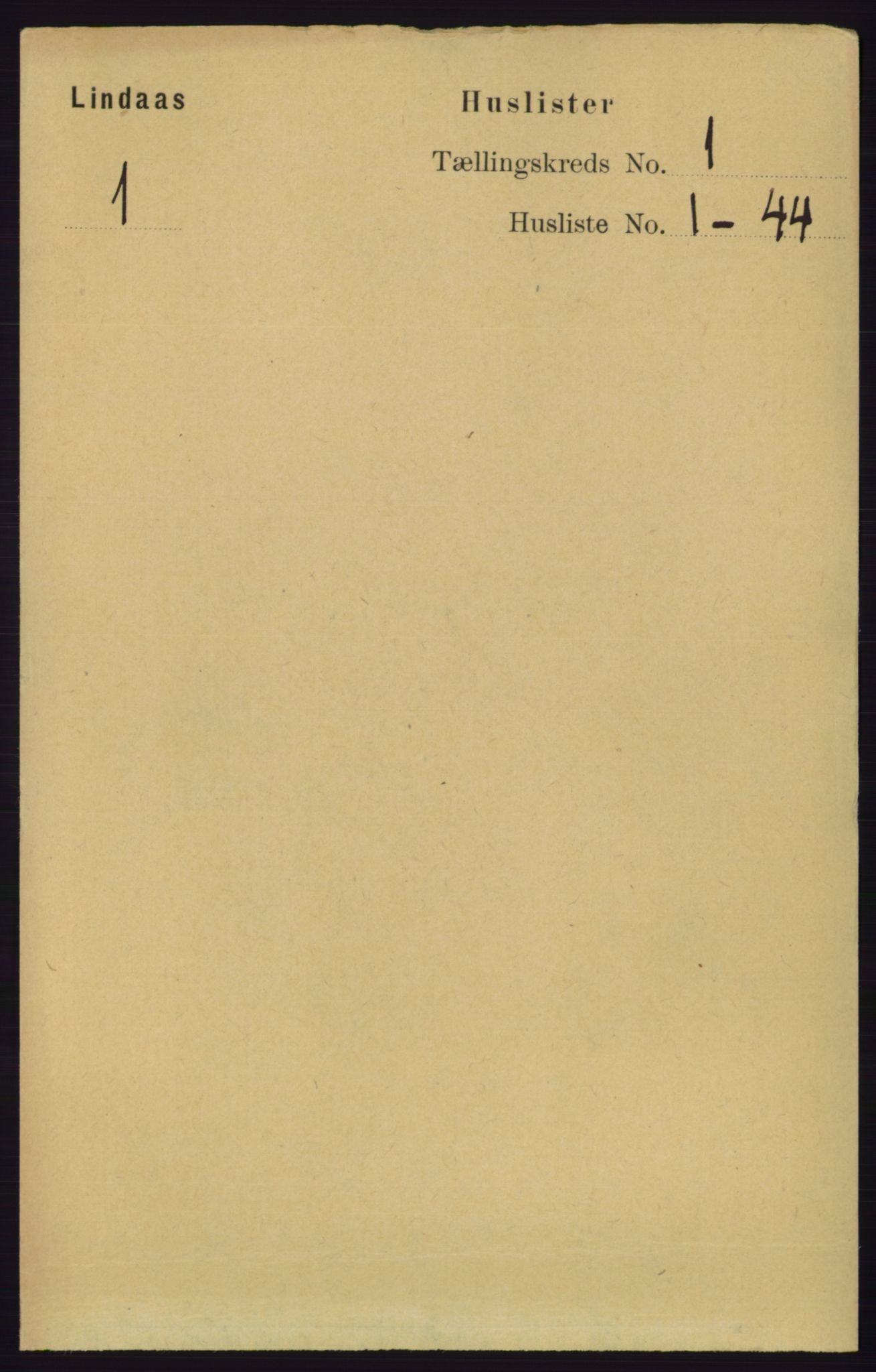 RA, Folketelling 1891 for 1263 Lindås herred, 1891, s. 46