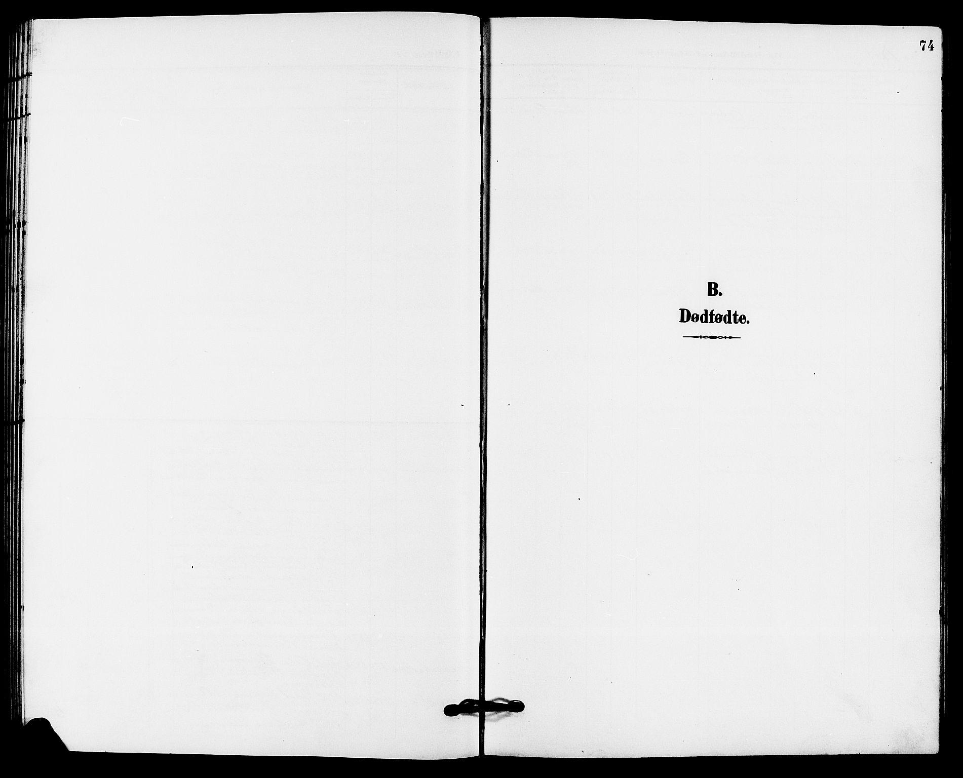 SAKO, Solum kirkebøker, G/Gb/L0004: Klokkerbok nr. II 4, 1898-1905, s. 74