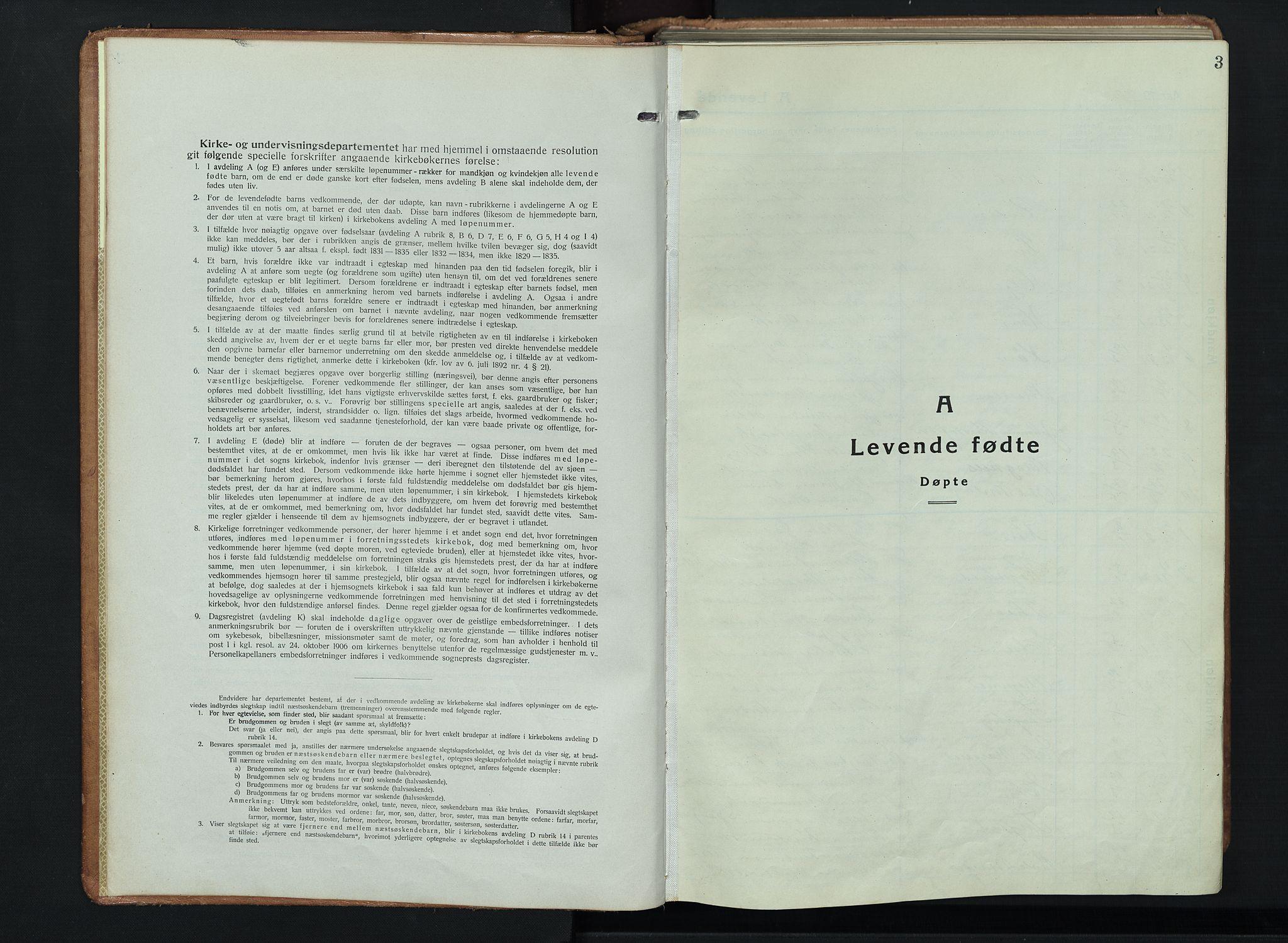 SAH, Ringebu prestekontor, Klokkerbok nr. 11, 1921-1943, s. 3