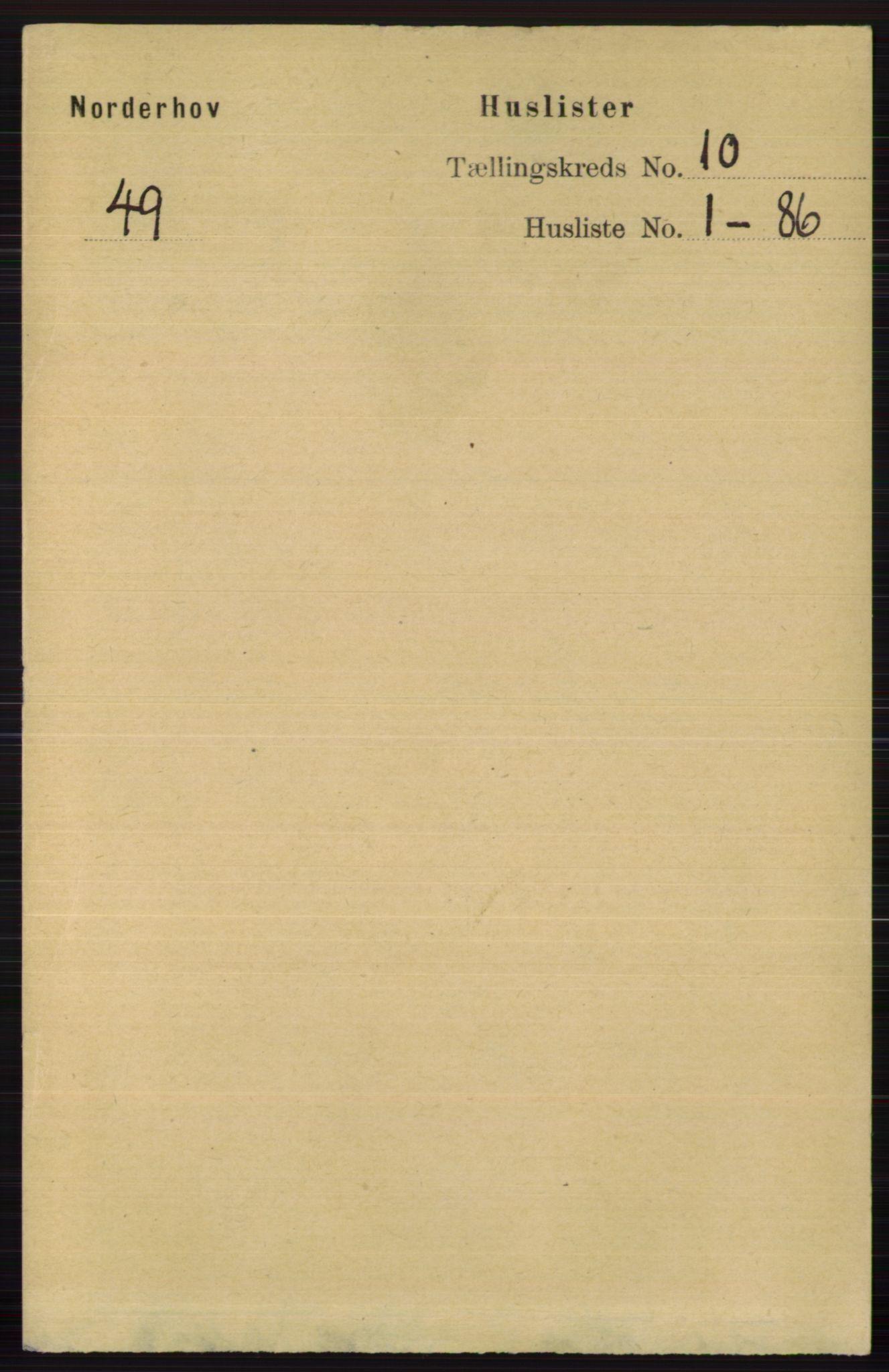 RA, Folketelling 1891 for 0613 Norderhov herred, 1891, s. 7422