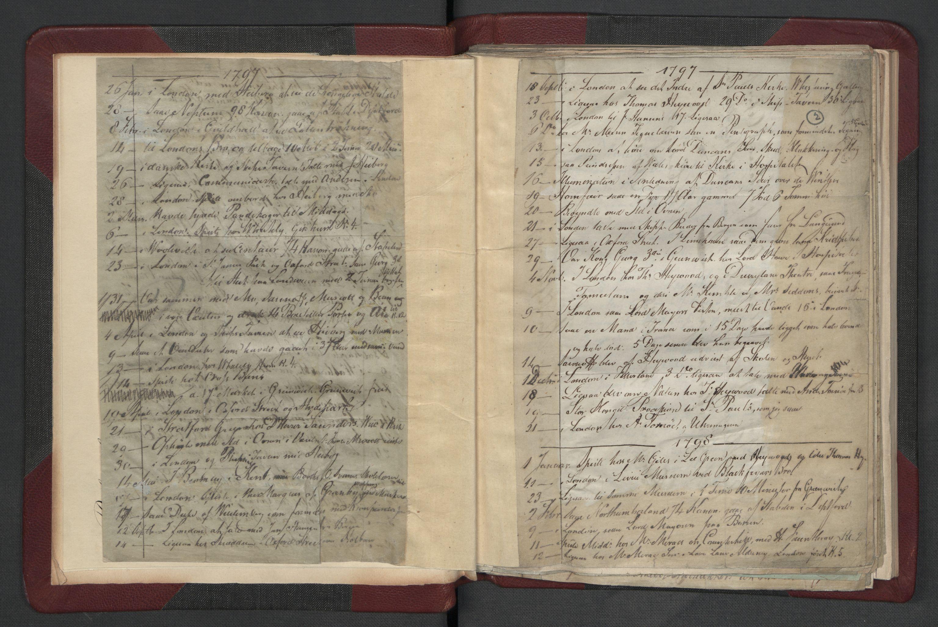 RA, Meltzer, Fredrik, F/L0002: Dagbok, 1796-1808, s. 1b-2a