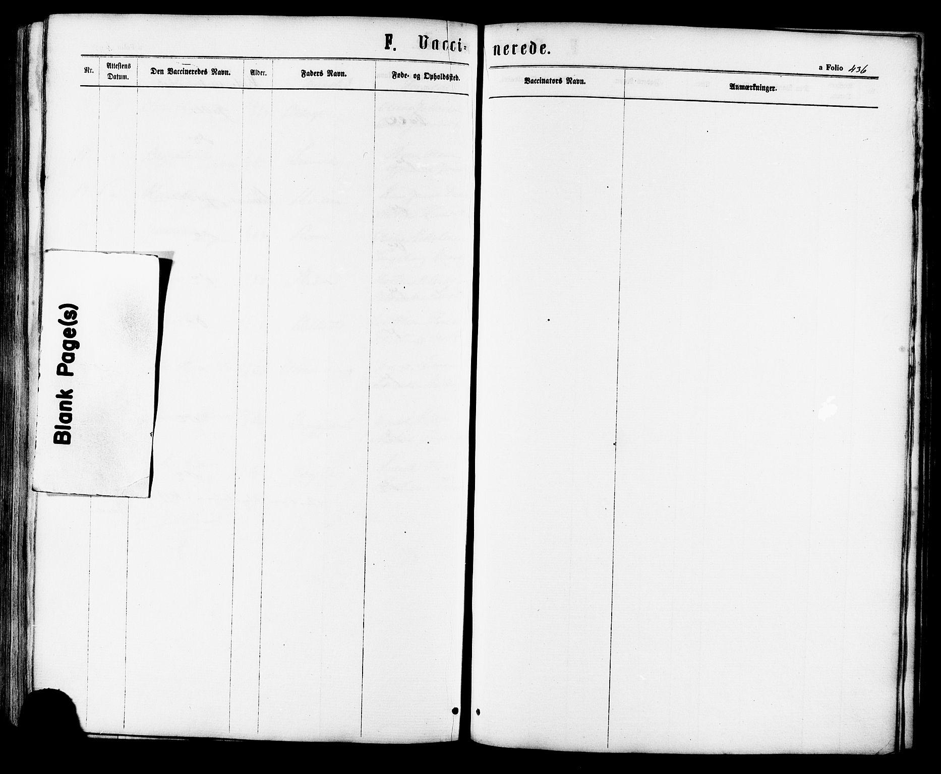 SAT, Ministerialprotokoller, klokkerbøker og fødselsregistre - Sør-Trøndelag, 657/L0706: Ministerialbok nr. 657A07, 1867-1878, s. 436