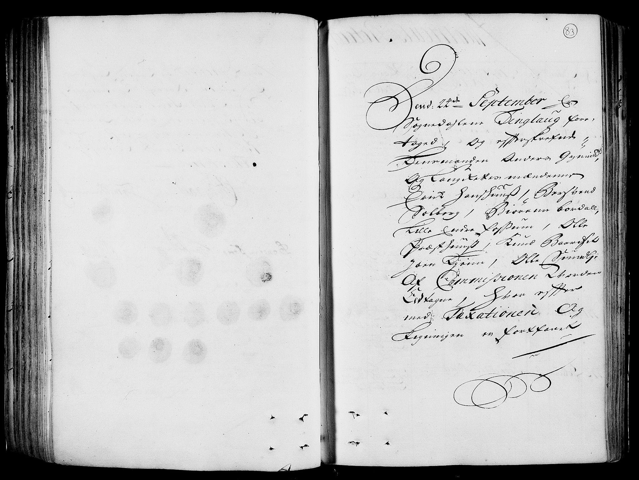 RA, Rentekammeret inntil 1814, Realistisk ordnet avdeling, N/Nb/Nbf/L0158: Gauldal eksaminasjonsprotokoll, 1723, s. 82b-83a