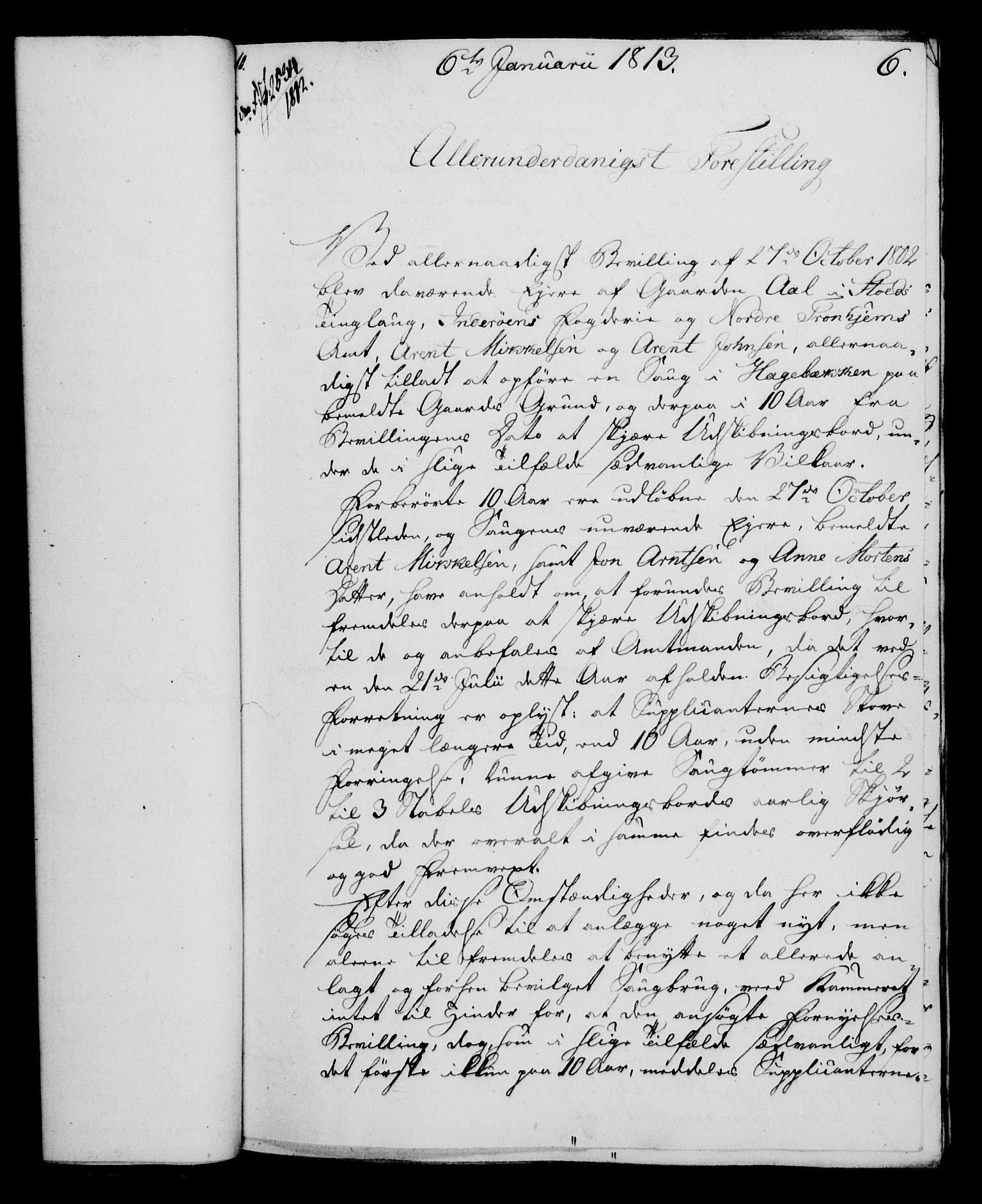 RA, Rentekammeret, Kammerkanselliet, G/Gf/Gfa/L0095: Norsk relasjons- og resolusjonsprotokoll (merket RK 52.95), 1813-1814, s. 46