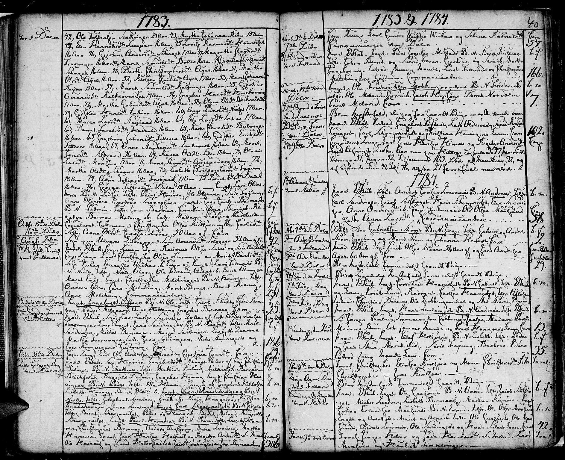 SAT, Ministerialprotokoller, klokkerbøker og fødselsregistre - Sør-Trøndelag, 634/L0526: Ministerialbok nr. 634A02, 1775-1818, s. 40