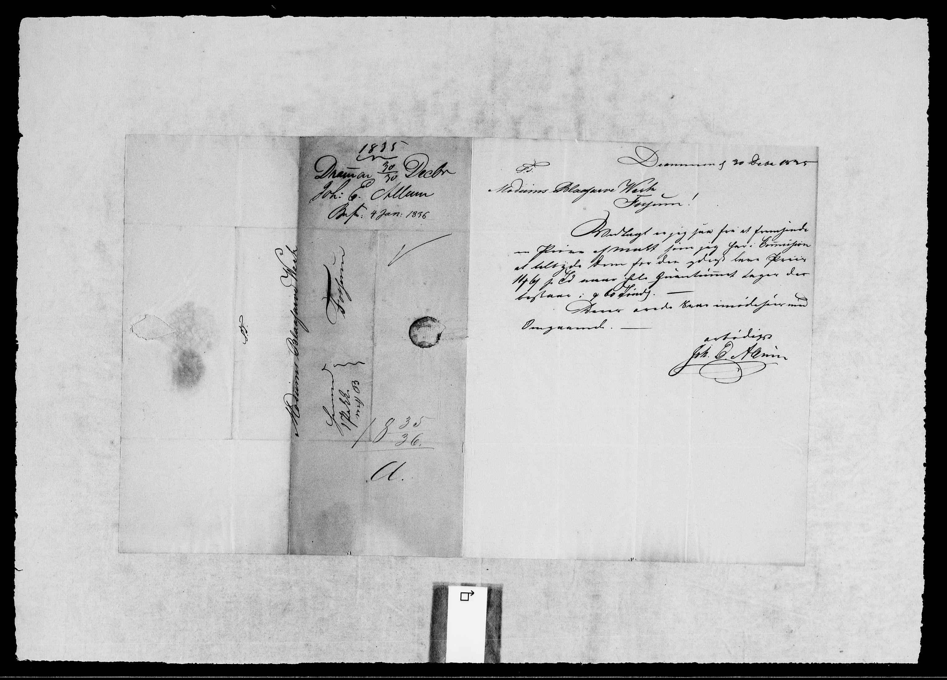 RA, Modums Blaafarveværk, G/Gb/L0115, 1835-1836, s. 2