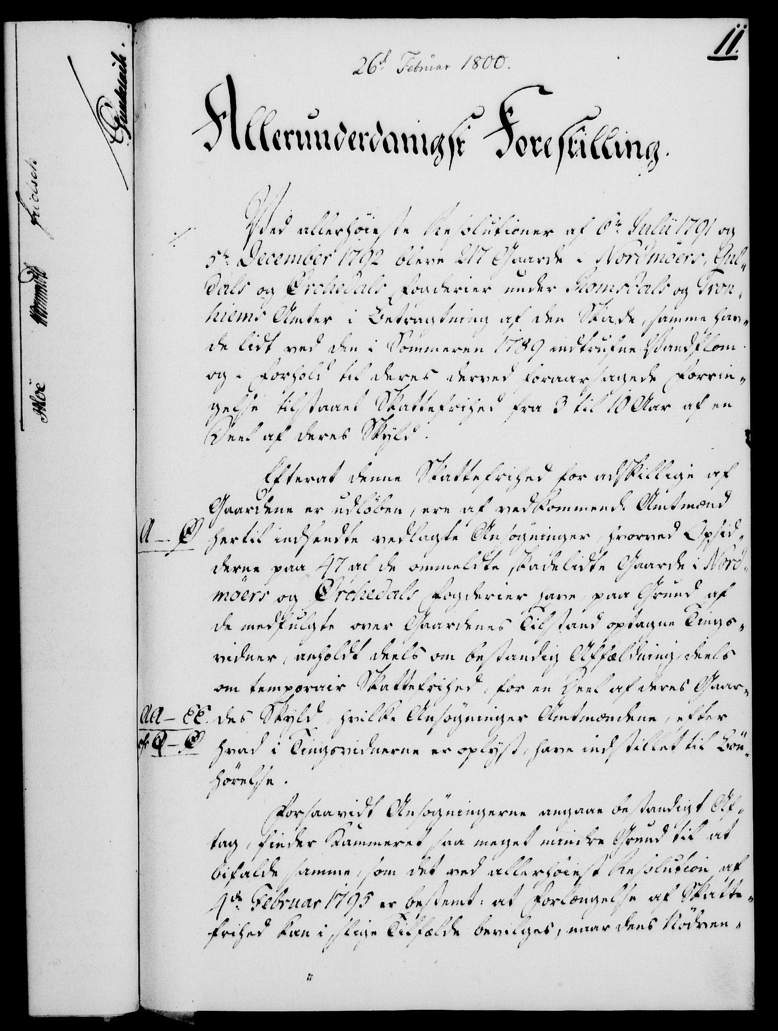 RA, Rentekammeret, Kammerkanselliet, G/Gf/Gfa/L0082: Norsk relasjons- og resolusjonsprotokoll (merket RK 52.82), 1800, s. 88