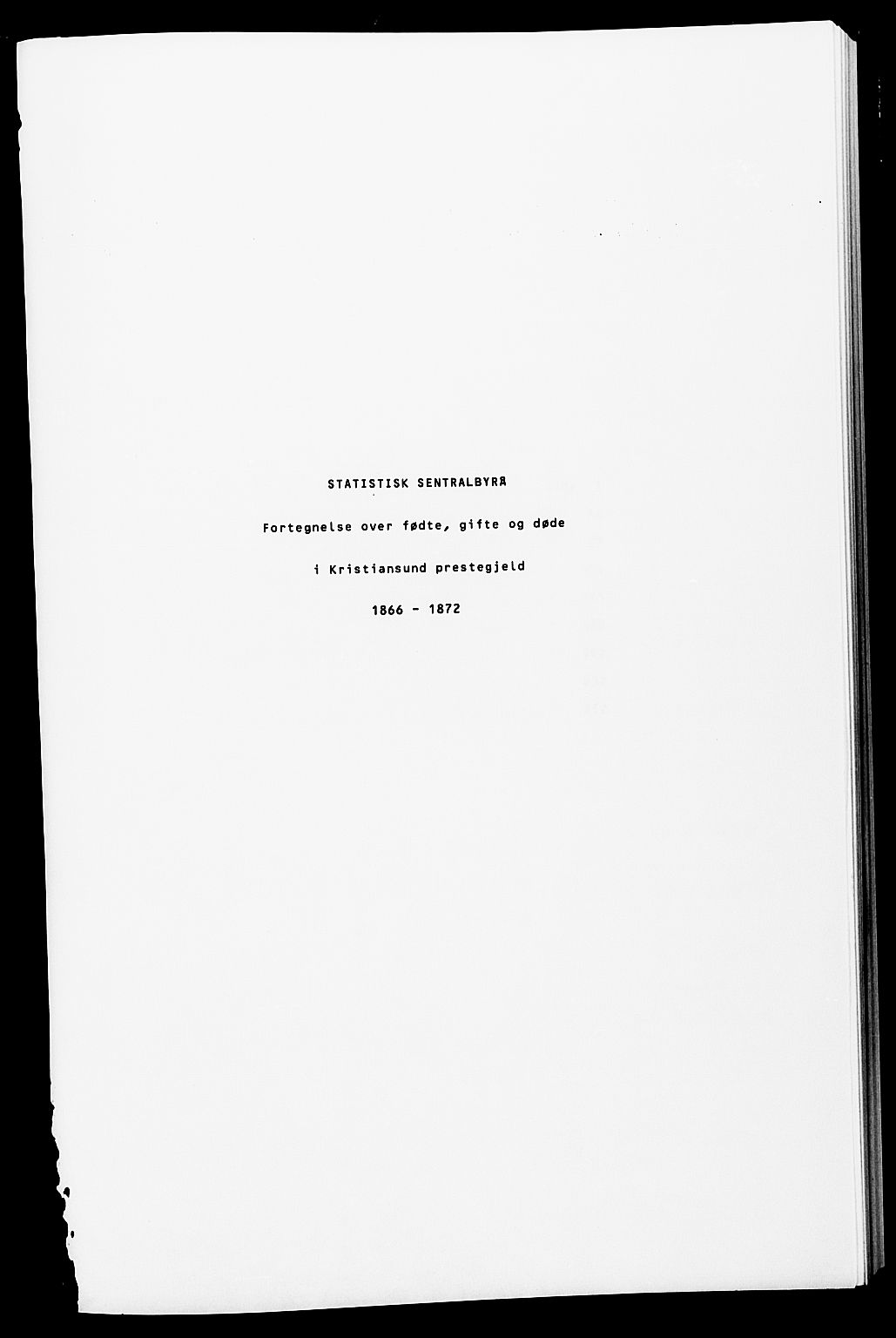 SAT, Ministerialprotokoller, klokkerbøker og fødselsregistre - Møre og Romsdal, 572/L0857: Ministerialbok nr. 572D01, 1866-1872