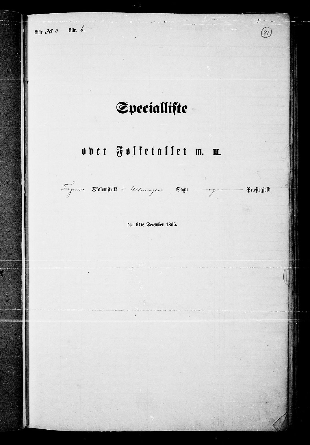 RA, Folketelling 1865 for 0235P Ullensaker prestegjeld, 1865, s. 69