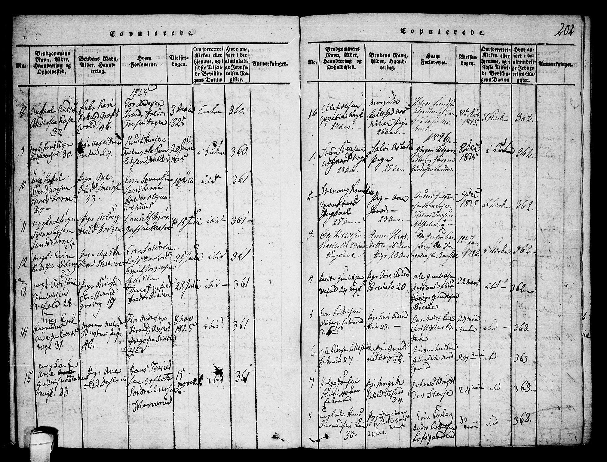 SAKO, Seljord kirkebøker, F/Fa/L0010: Ministerialbok nr. I 10, 1815-1831, s. 202