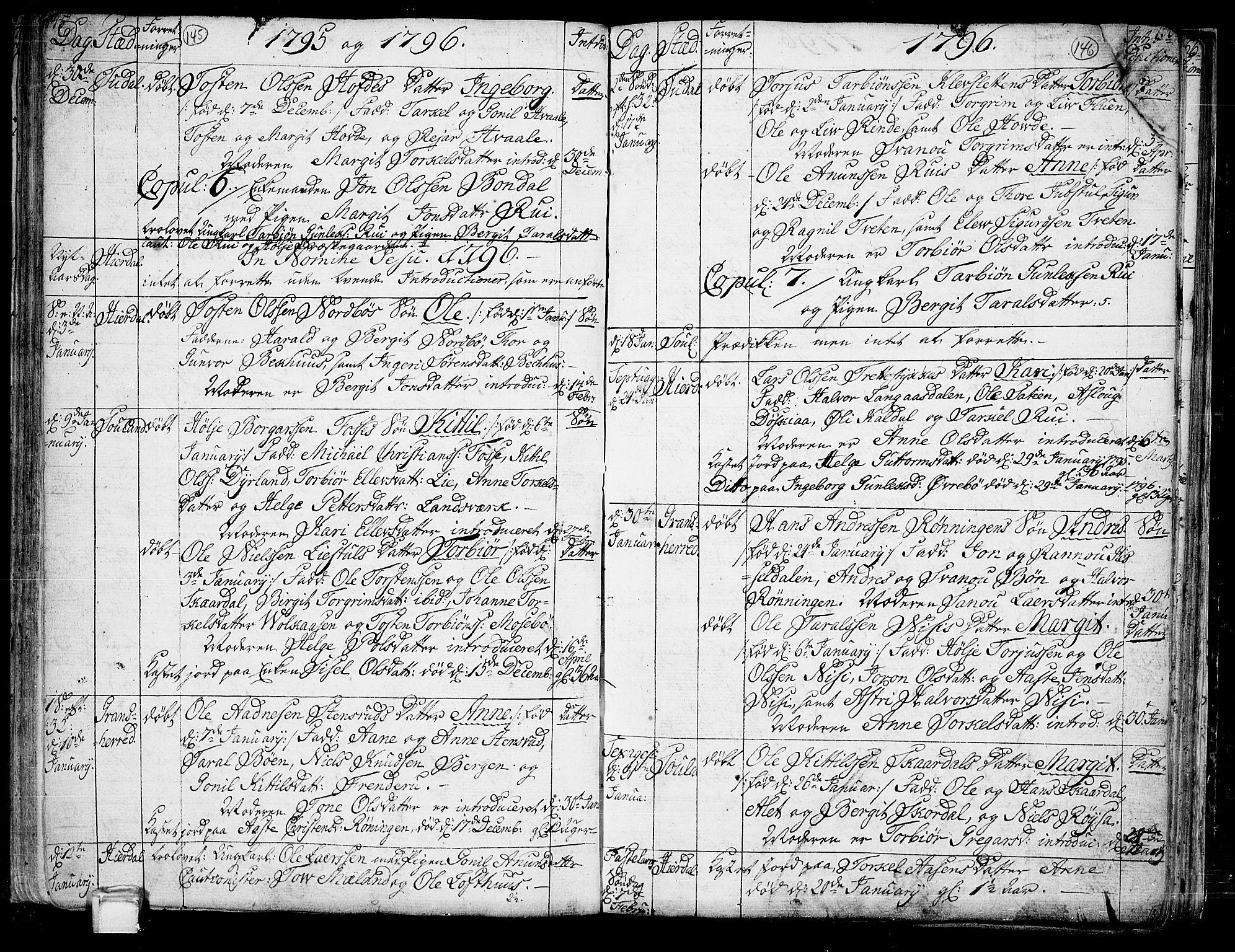 SAKO, Hjartdal kirkebøker, F/Fa/L0005: Ministerialbok nr. I 5, 1776-1801, s. 145-146