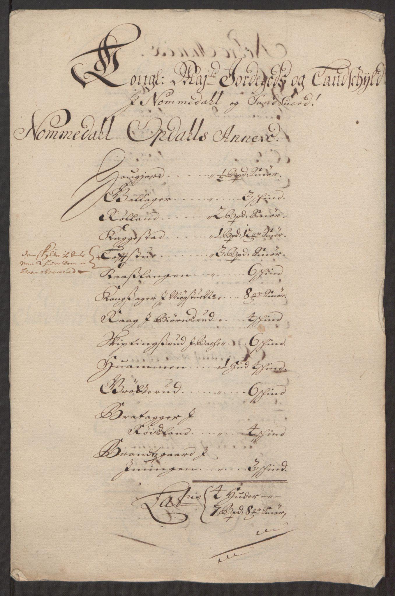 RA, Rentekammeret inntil 1814, Reviderte regnskaper, Fogderegnskap, R24/L1575: Fogderegnskap Numedal og Sandsvær, 1692-1695, s. 196