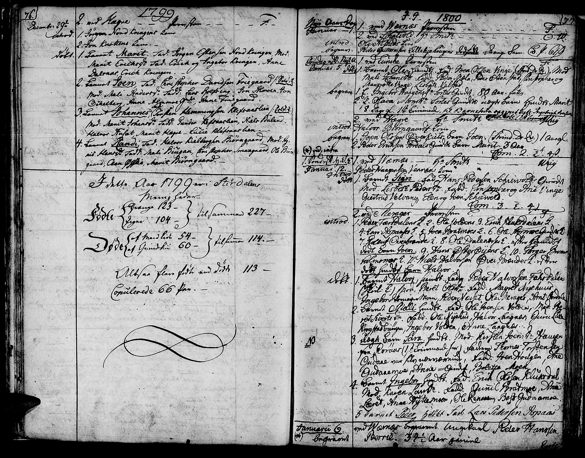 SAT, Ministerialprotokoller, klokkerbøker og fødselsregistre - Nord-Trøndelag, 709/L0060: Ministerialbok nr. 709A07, 1797-1815, s. 76-77