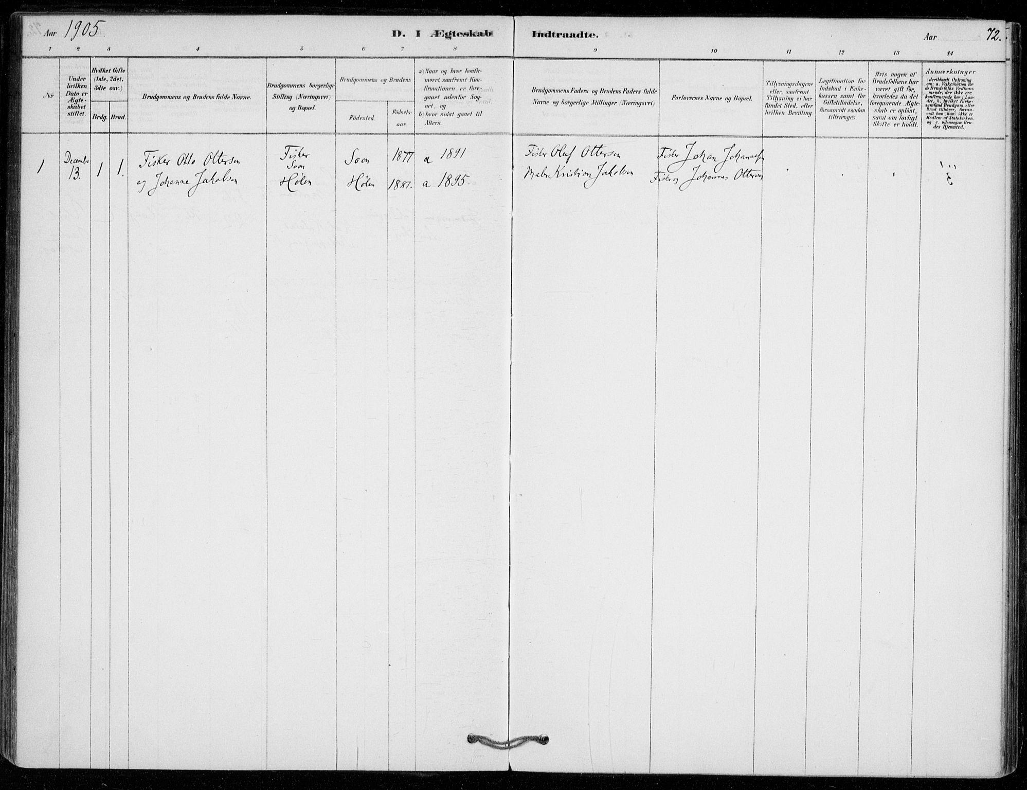 SAO, Vestby prestekontor Kirkebøker, F/Fe/L0001: Ministerialbok nr. V 1, 1878-1931, s. 72