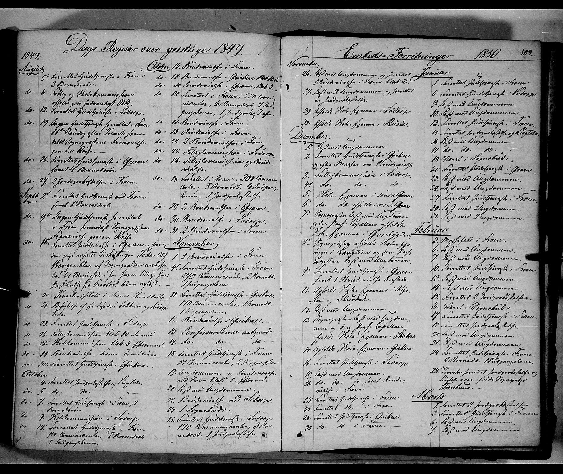 SAH, Sør-Fron prestekontor, H/Ha/Haa/L0001: Ministerialbok nr. 1, 1849-1863, s. 503