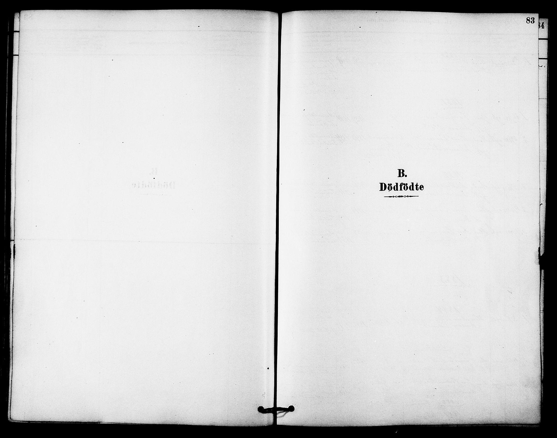 SAT, Ministerialprotokoller, klokkerbøker og fødselsregistre - Sør-Trøndelag, 612/L0378: Ministerialbok nr. 612A10, 1878-1897, s. 83