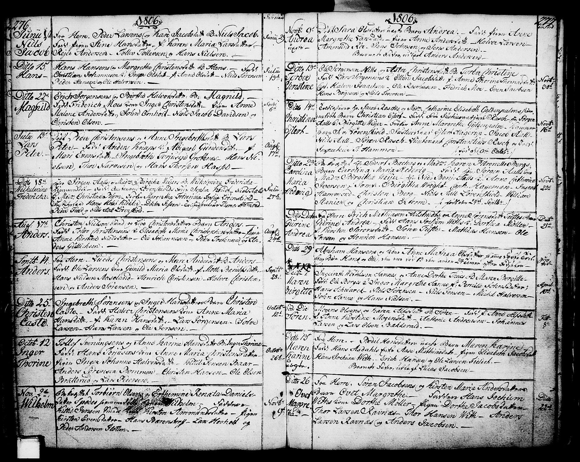 SAKO, Porsgrunn kirkebøker , F/Fa/L0002: Ministerialbok nr. 2, 1764-1814, s. 276-277