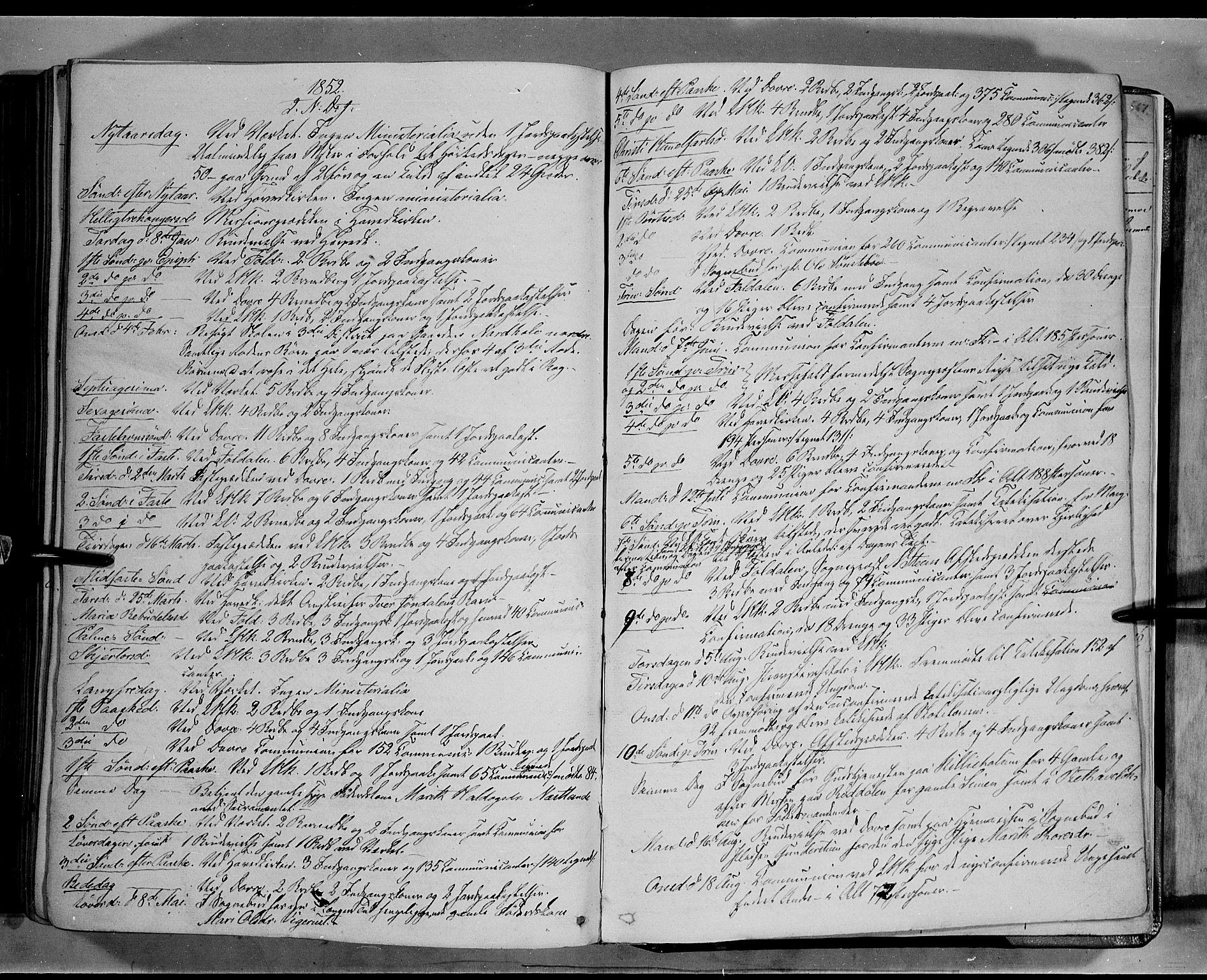 SAH, Lesja prestekontor, Ministerialbok nr. 6B, 1843-1854